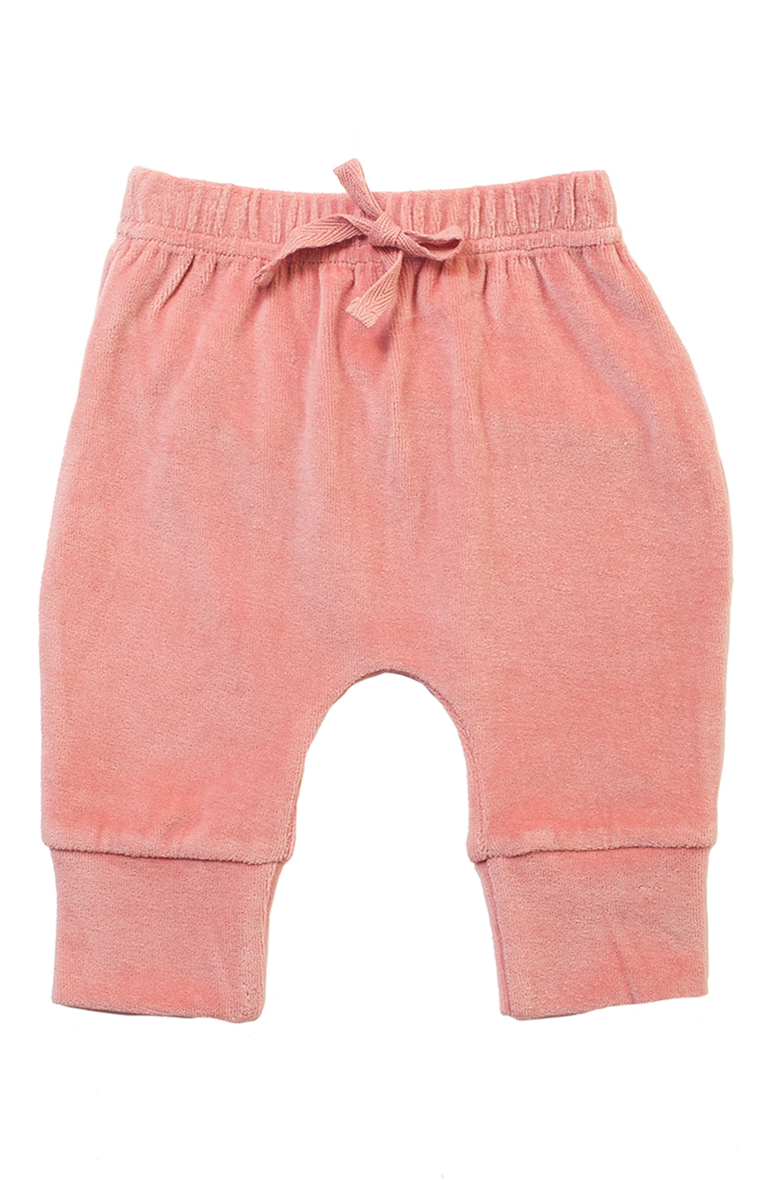 Alternate Image 1 Selected - Monica + Andy Organic Cotton Velour Sweatpants (Baby Girls)