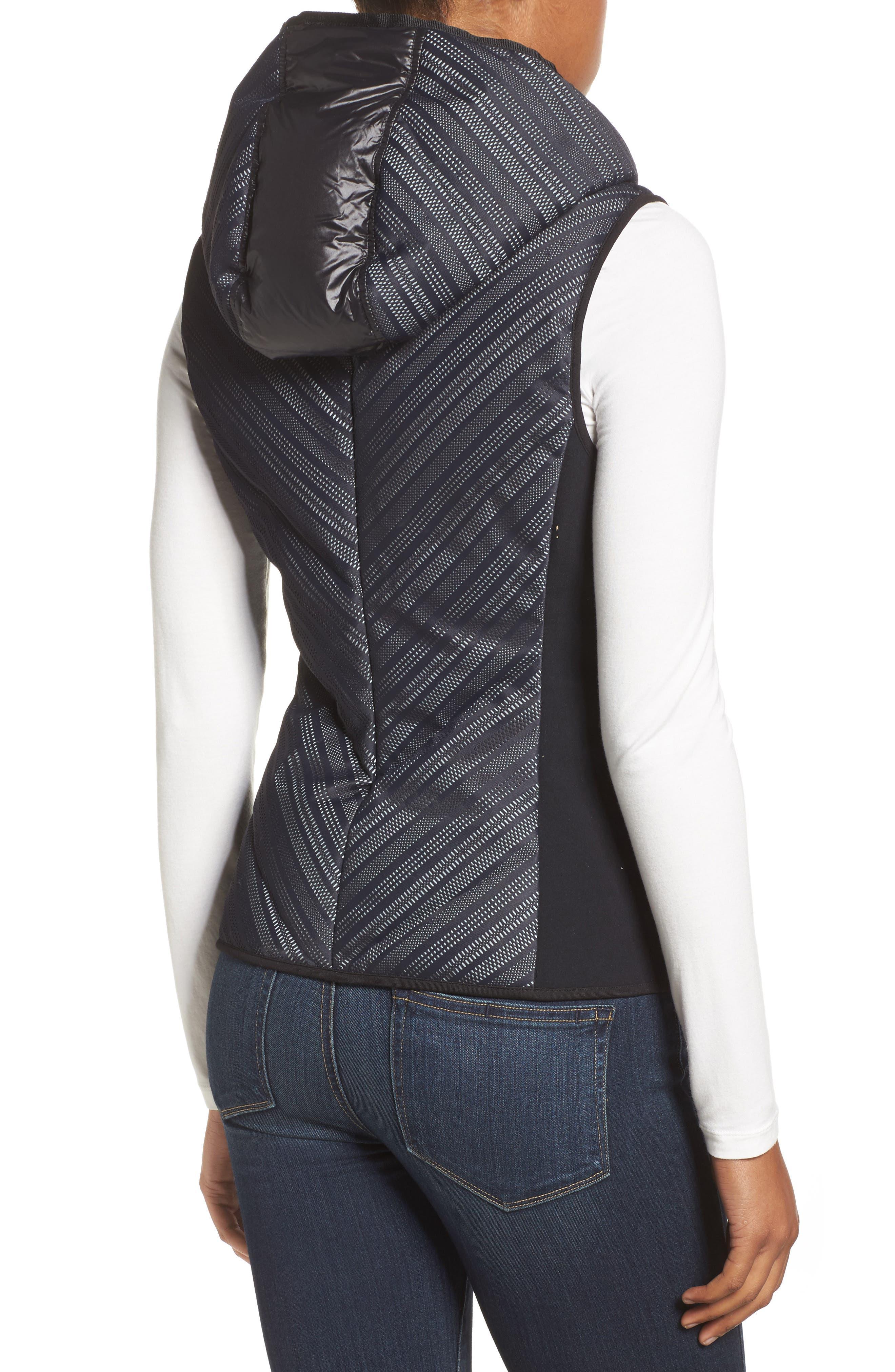 Chevron Reflective Down Vest,                             Alternate thumbnail 2, color,                             Black