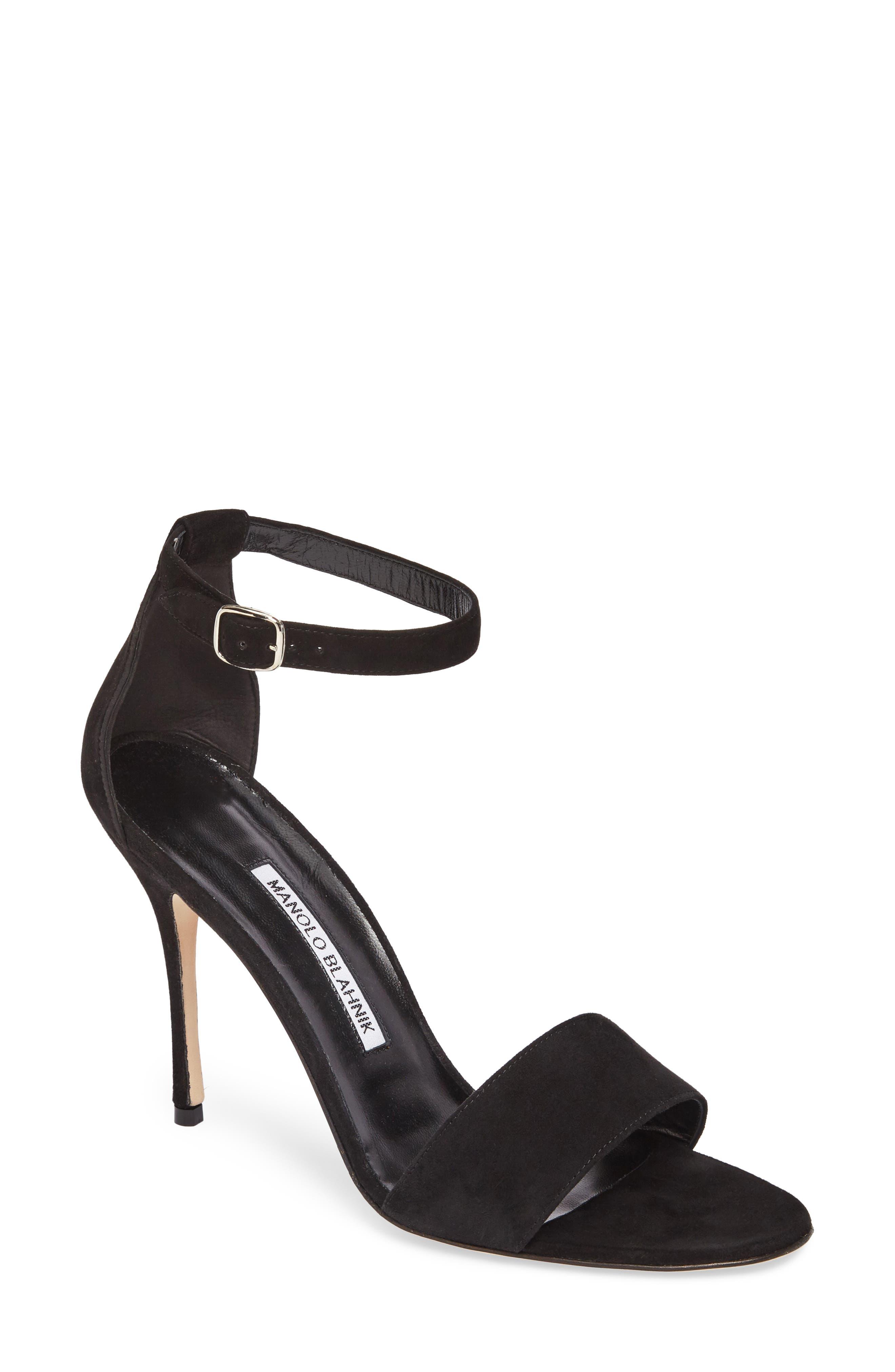 Manolo Blahnik Tres Ankle Strap Sandal (Women)