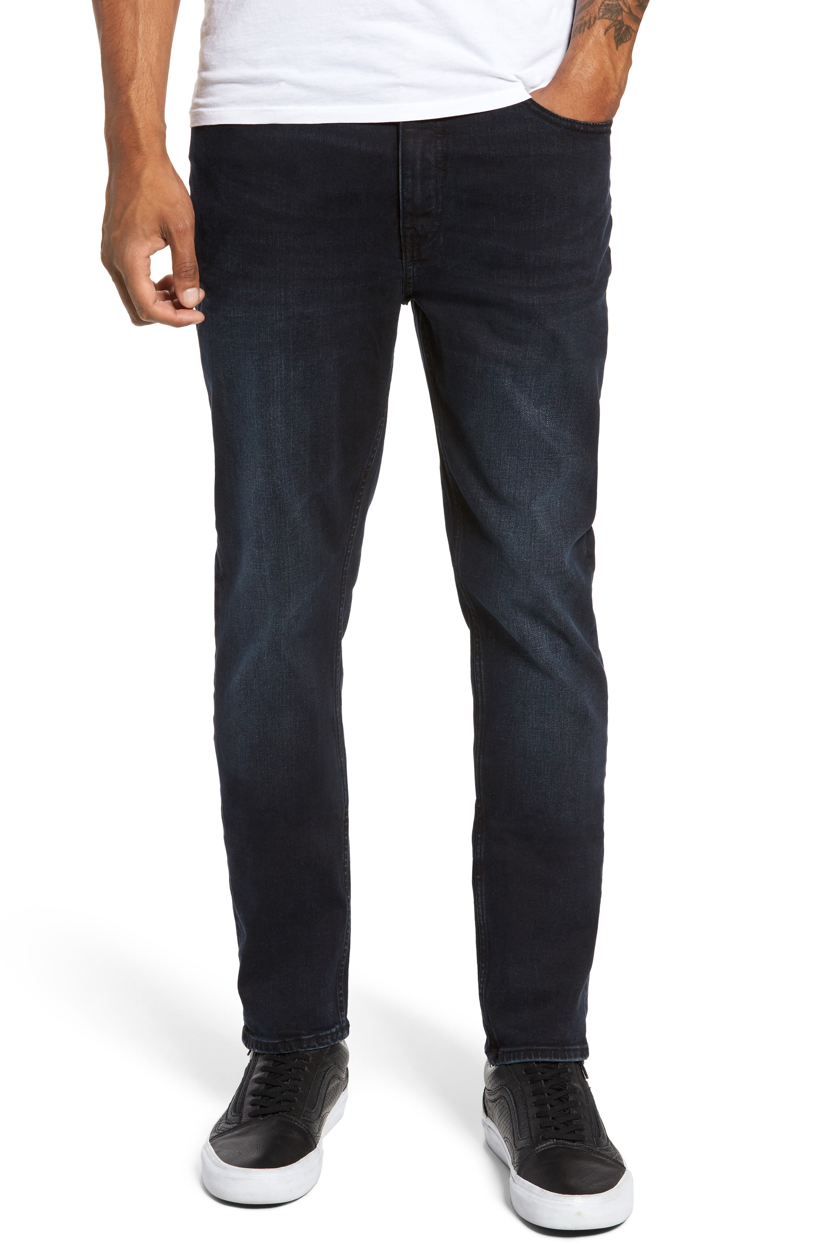 Main Image - Cheap Monday Sonic Skinny Fit Jeans (Blue/Black)
