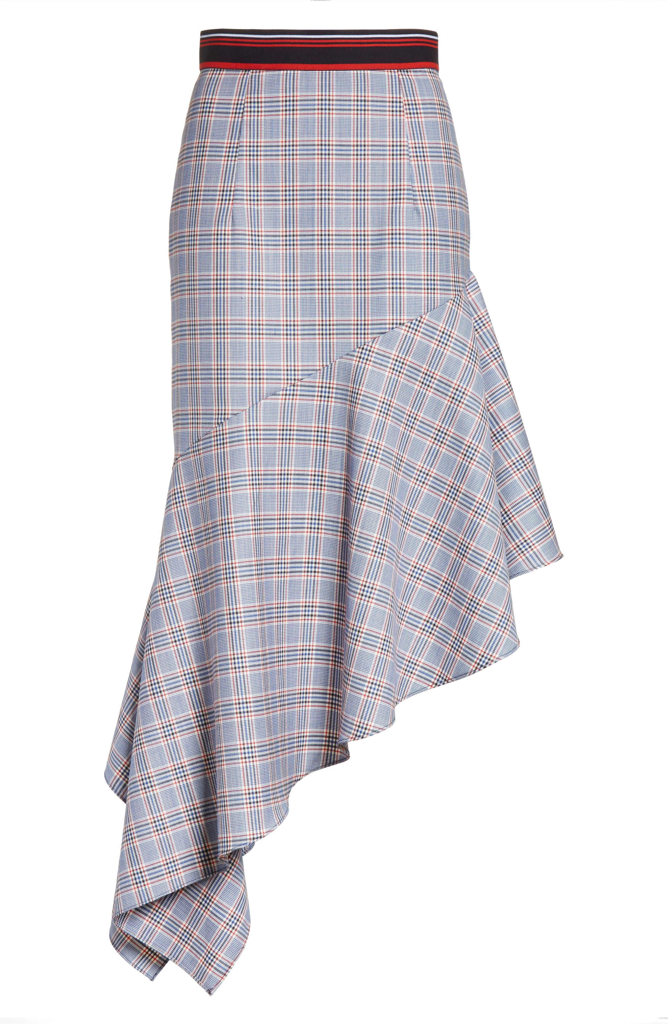 Asymmetrical Ruffle Hem Skirt,                             Alternate thumbnail 6, color,                             Multi
