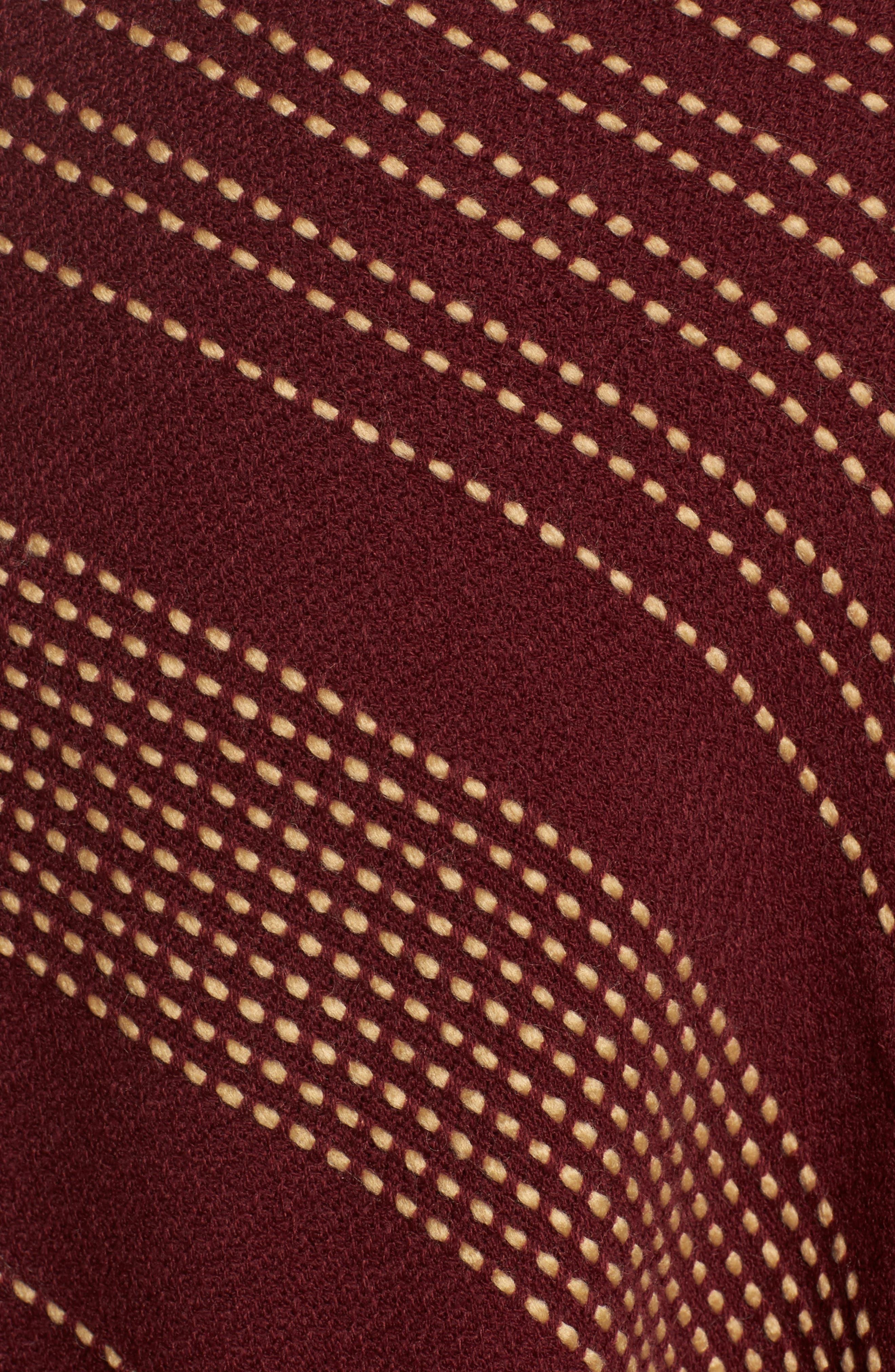 Textured Stripe Blanket Scarf,                             Alternate thumbnail 5, color,                             Wine