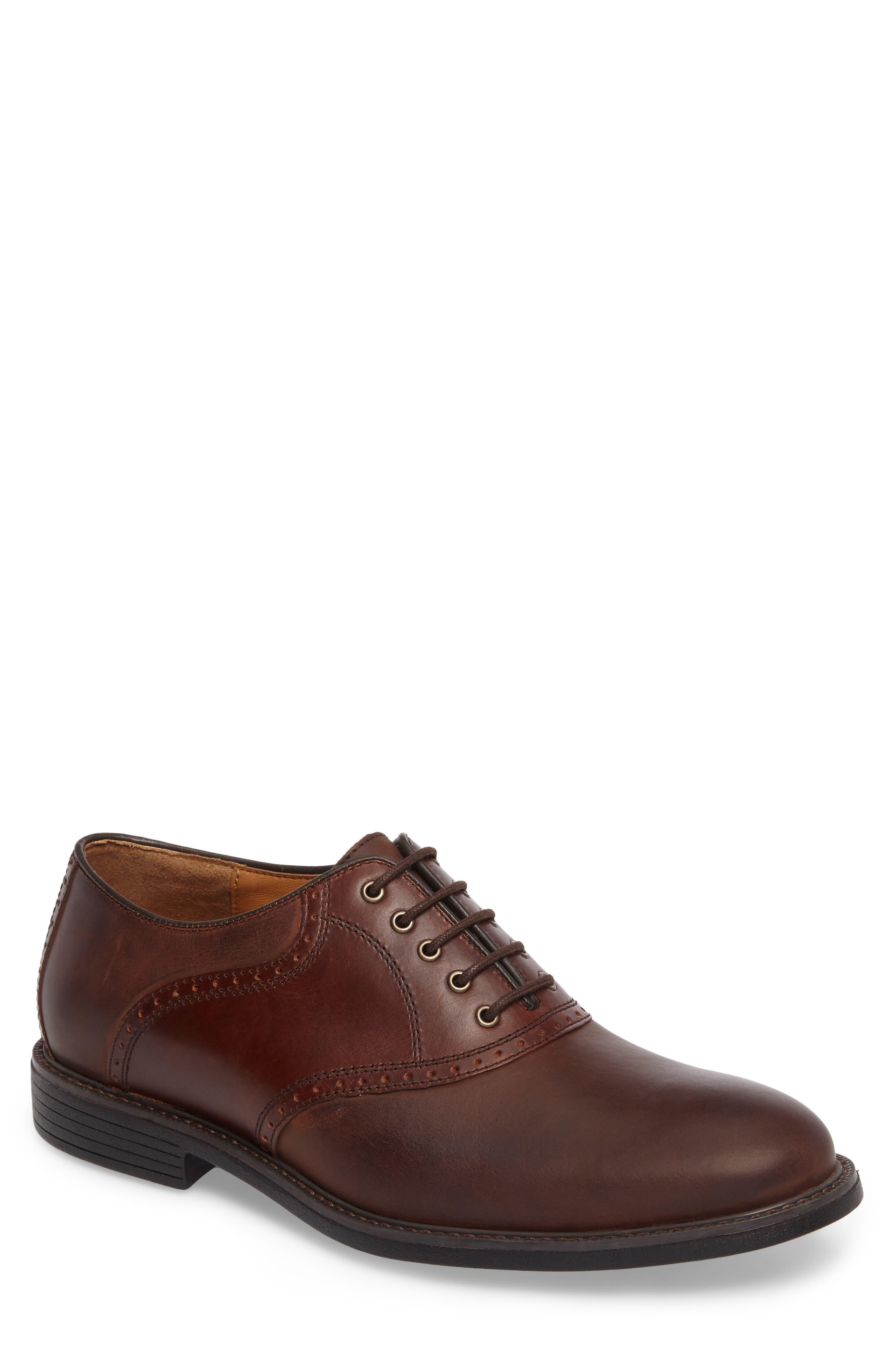 Hollis Waterproof Plain Toe Oxford,                             Main thumbnail 1, color,                             Brown