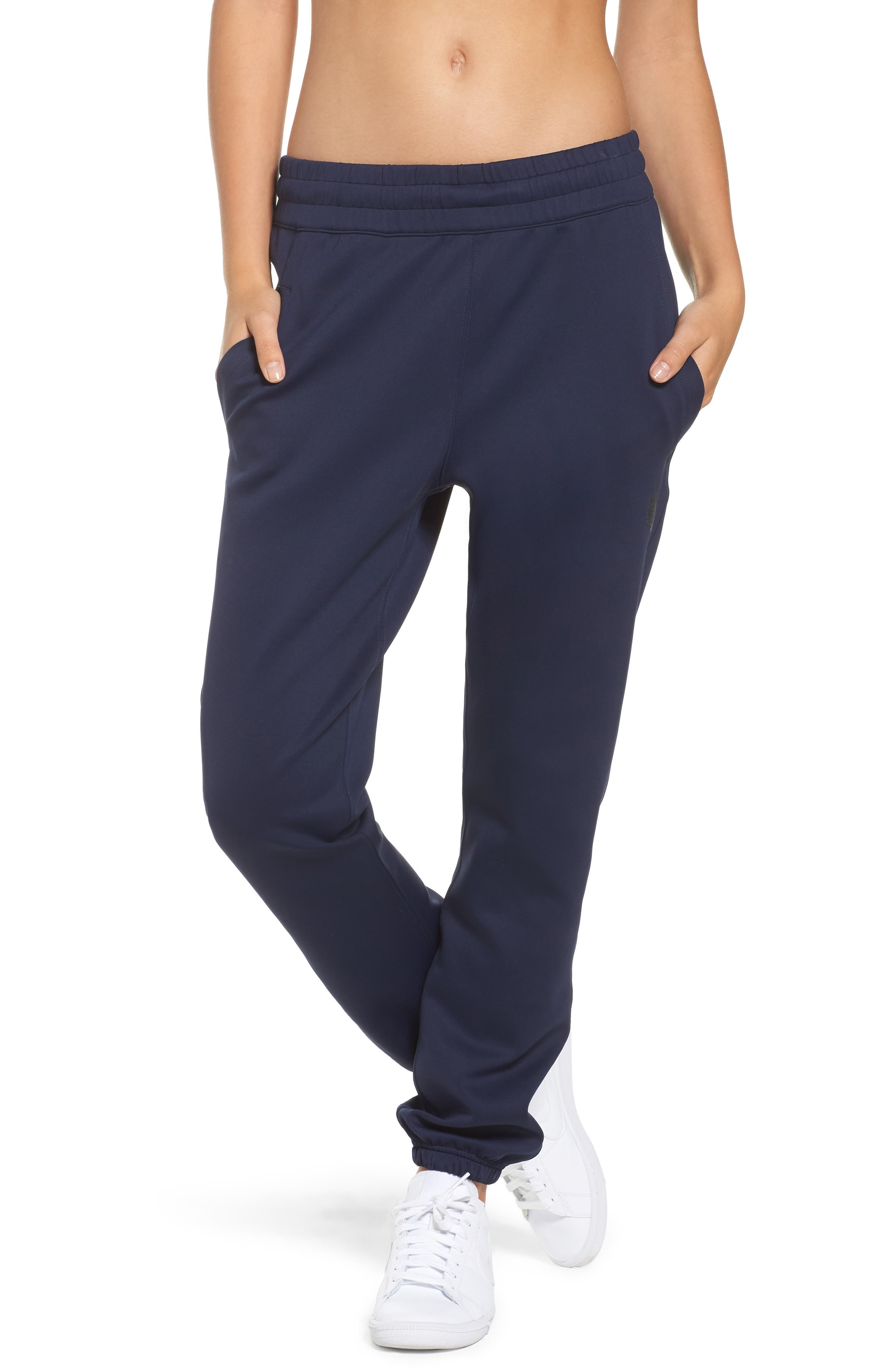 NikeLab Essentials Women's Fleece Pants,                         Main,                         color, Obsidian/ Black