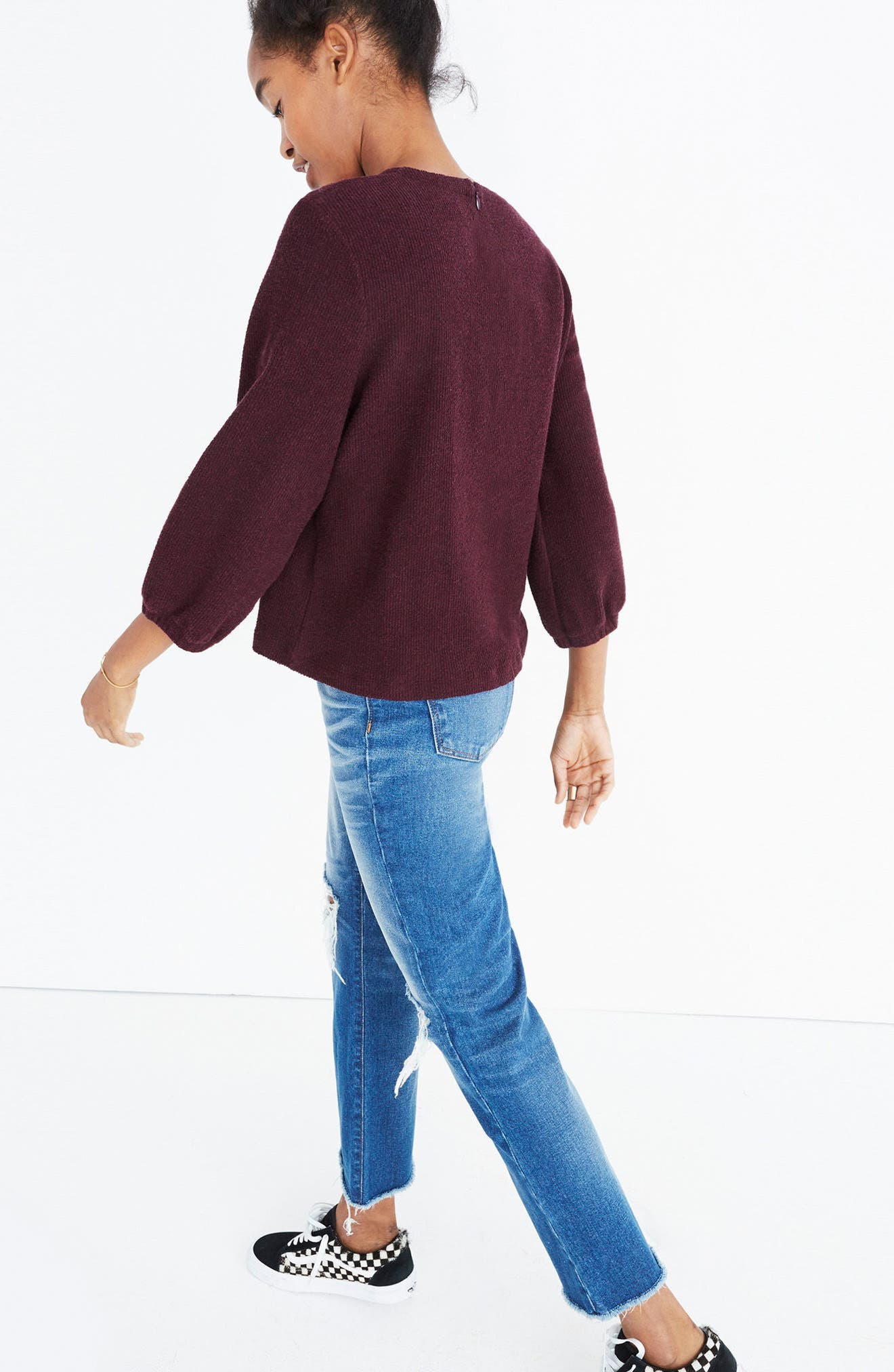 Alternate Image 2  - Madewell Shirred Sleeve Sweater