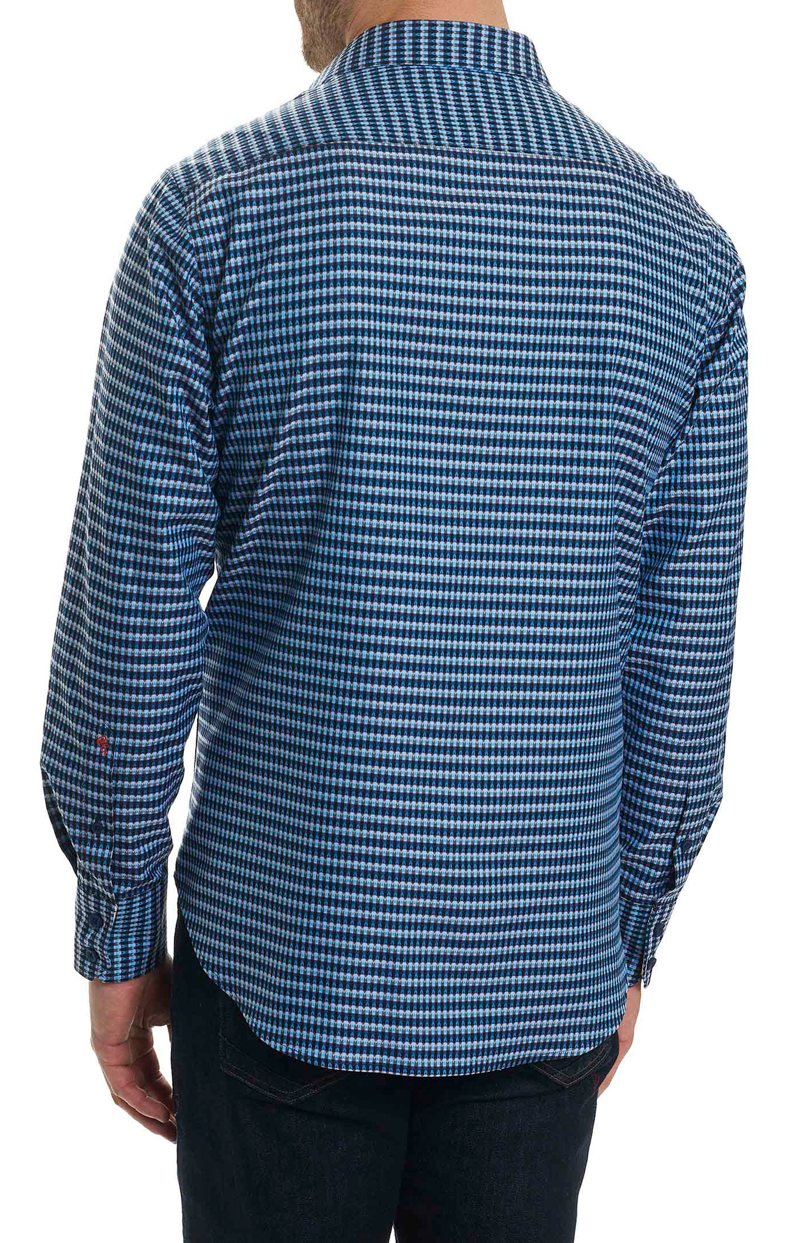 Hill Punch Classic Fit Print Sport Shirt,                             Alternate thumbnail 2, color,                             Navy
