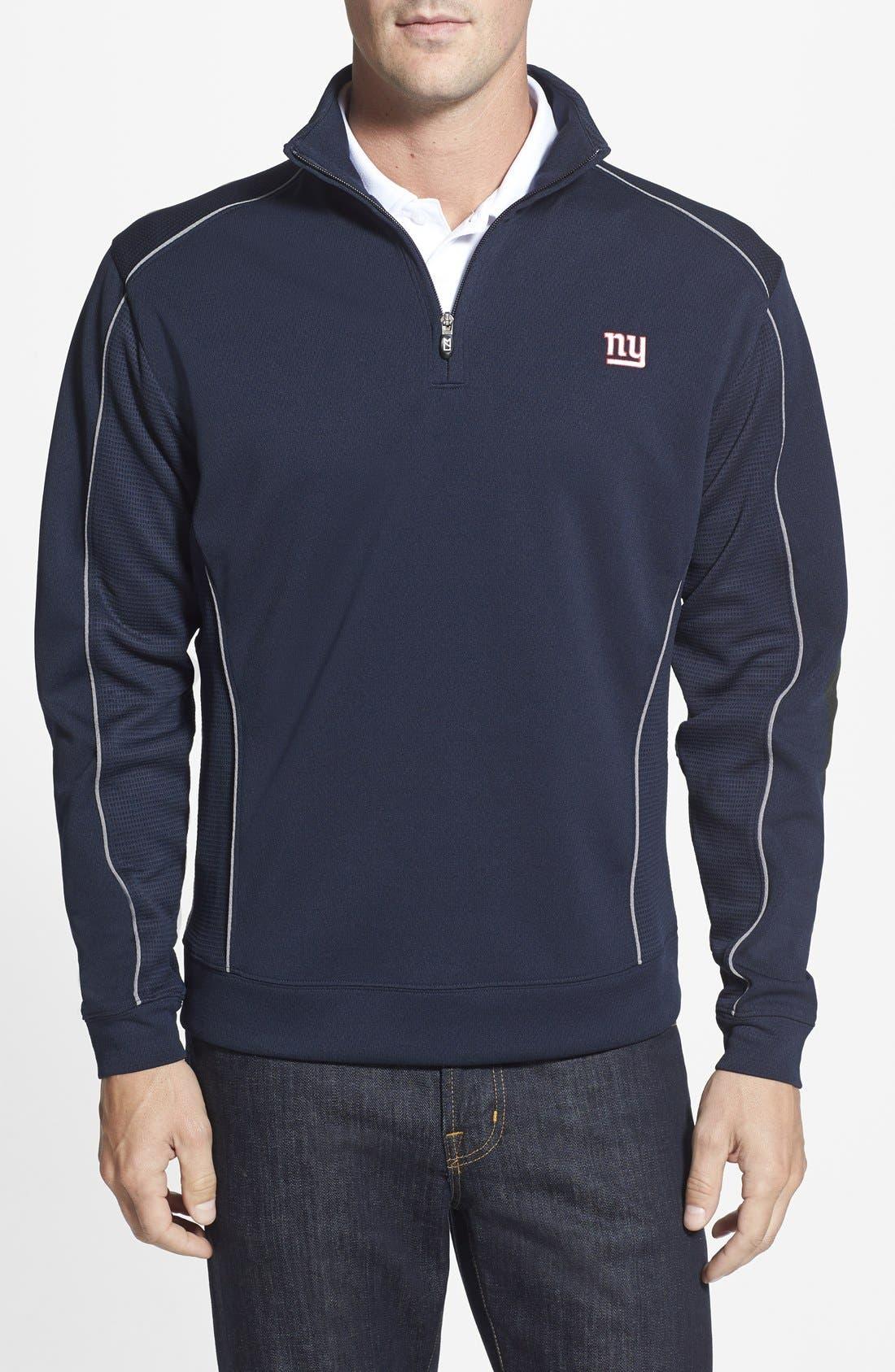 New York Giants - Edge DryTec Moisture Wicking Half Zip Pullover,                         Main,                         color, Navy Blue
