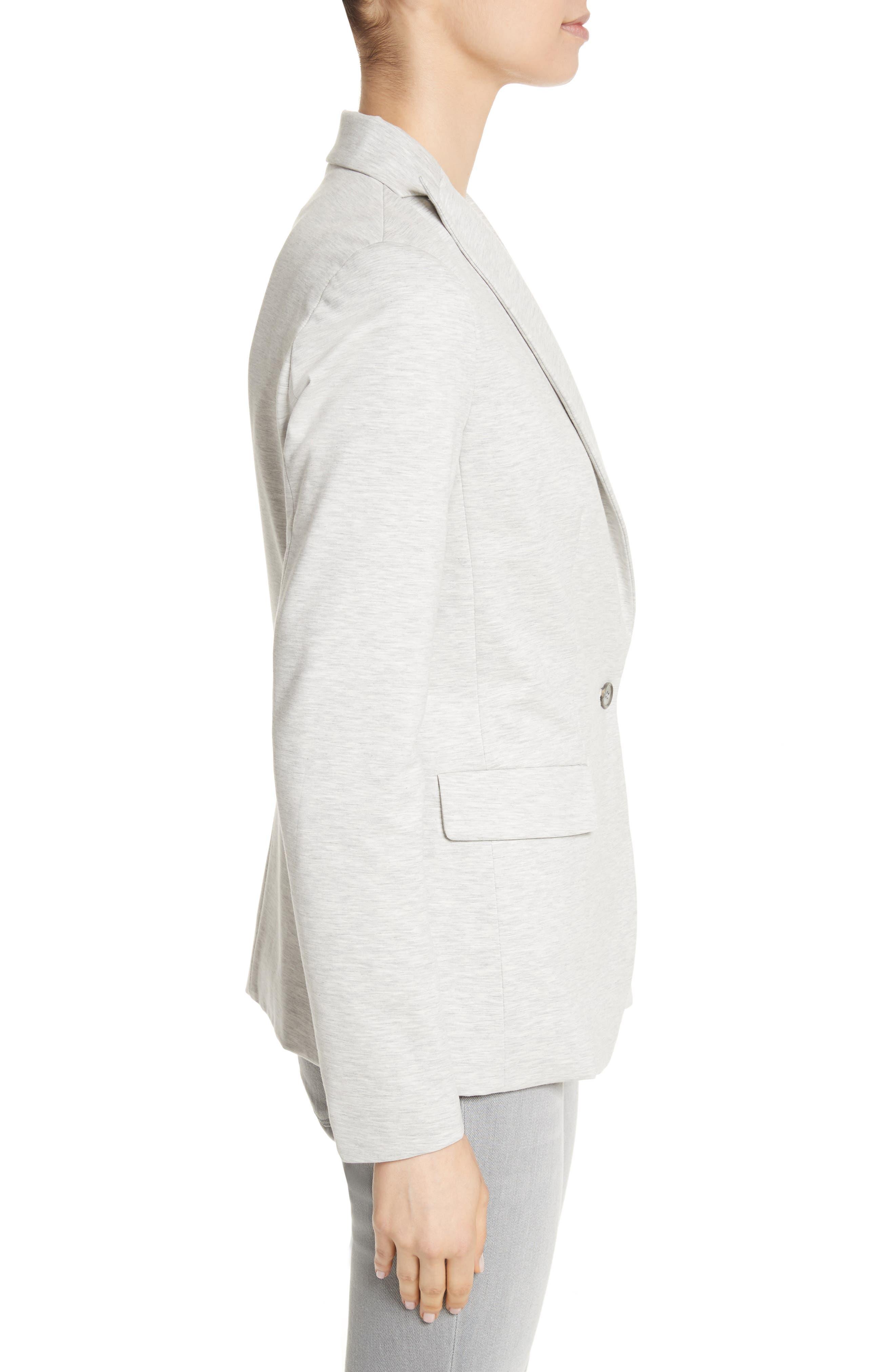 Rodier Jersey Blazer,                             Alternate thumbnail 4, color,                             Pearl Grey