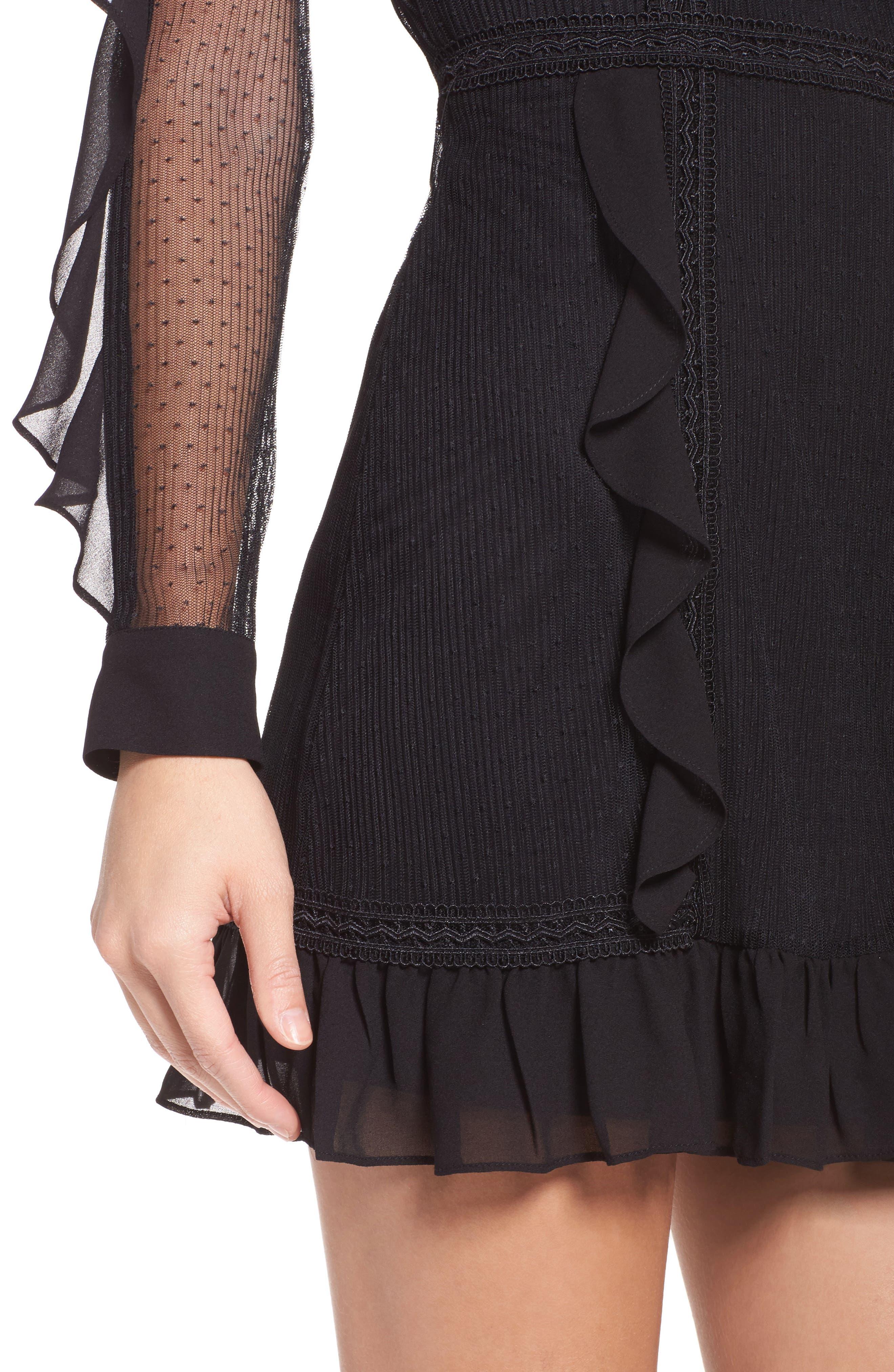 Alternate Image 4  - Greylin Faith Chiffon & Mesh Minidress