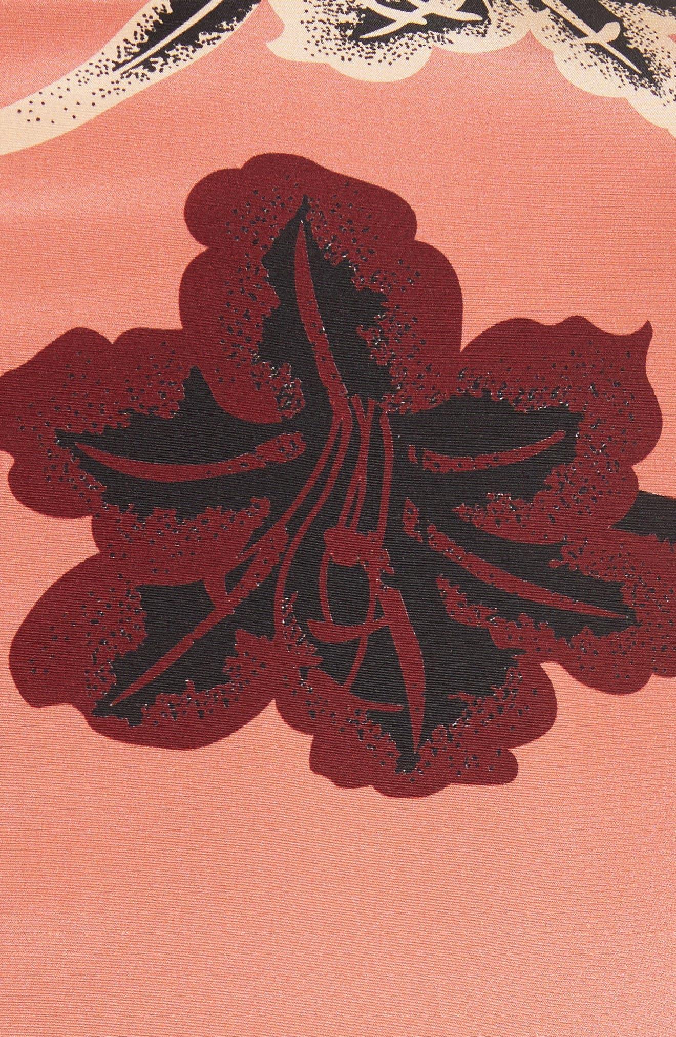 Alternate Image 6  - Derek Lam 10 Crosby V-Neck Pleated Hem Silk Blouse