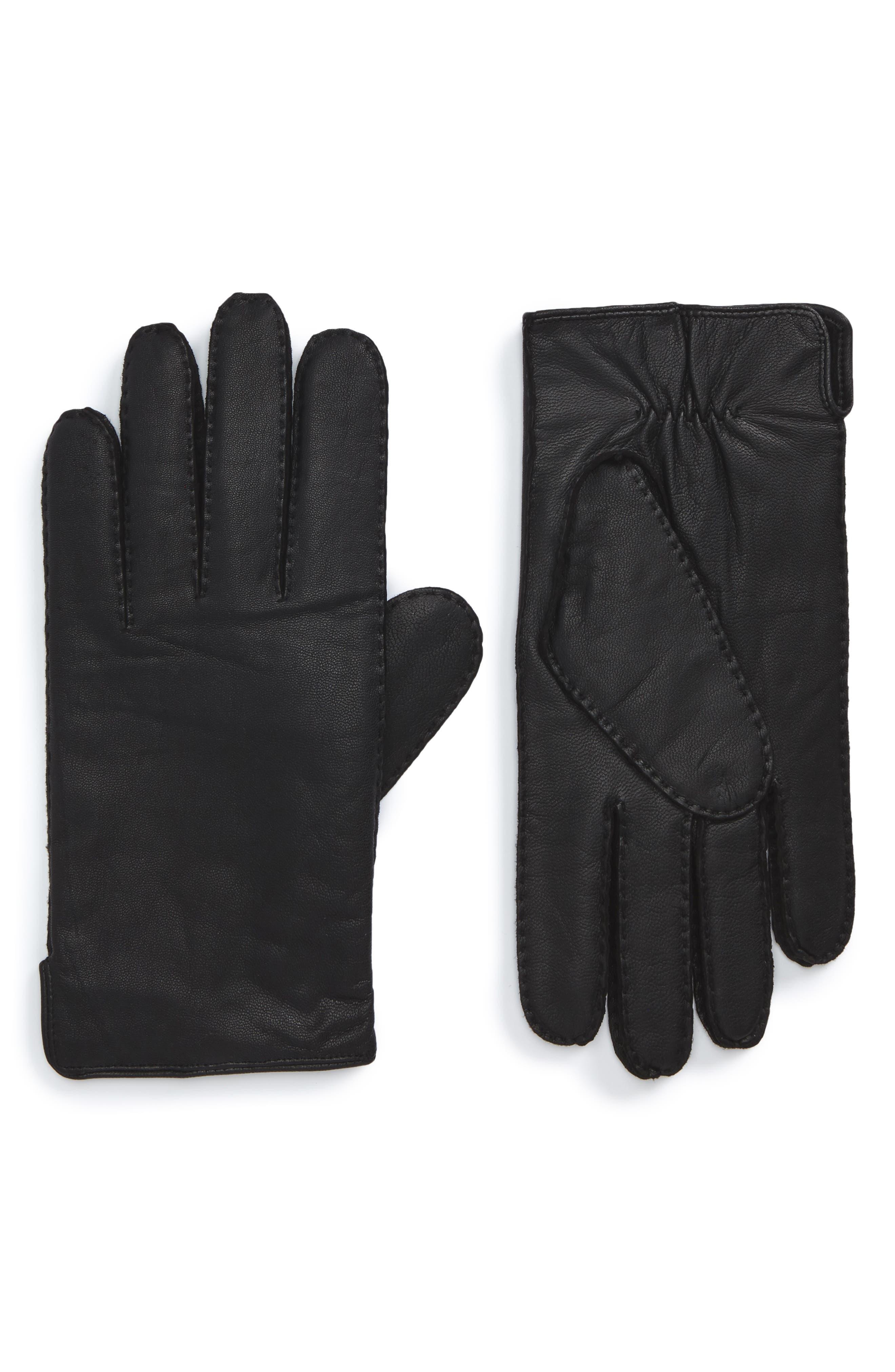 Main Image - BOSS Kanton Leather Gloves