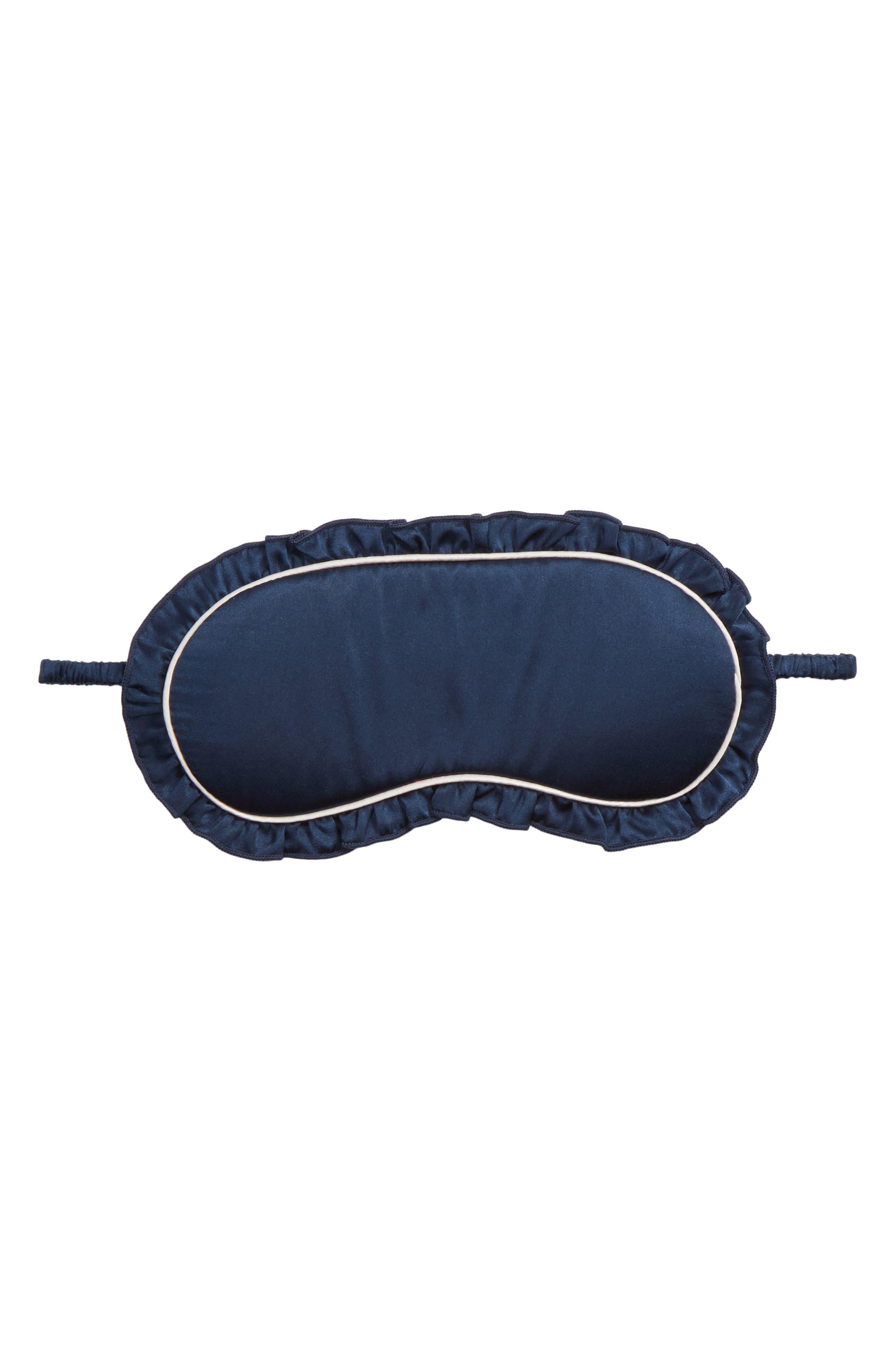 Silk Eye Mask,                         Main,                         color, Navy Indigo