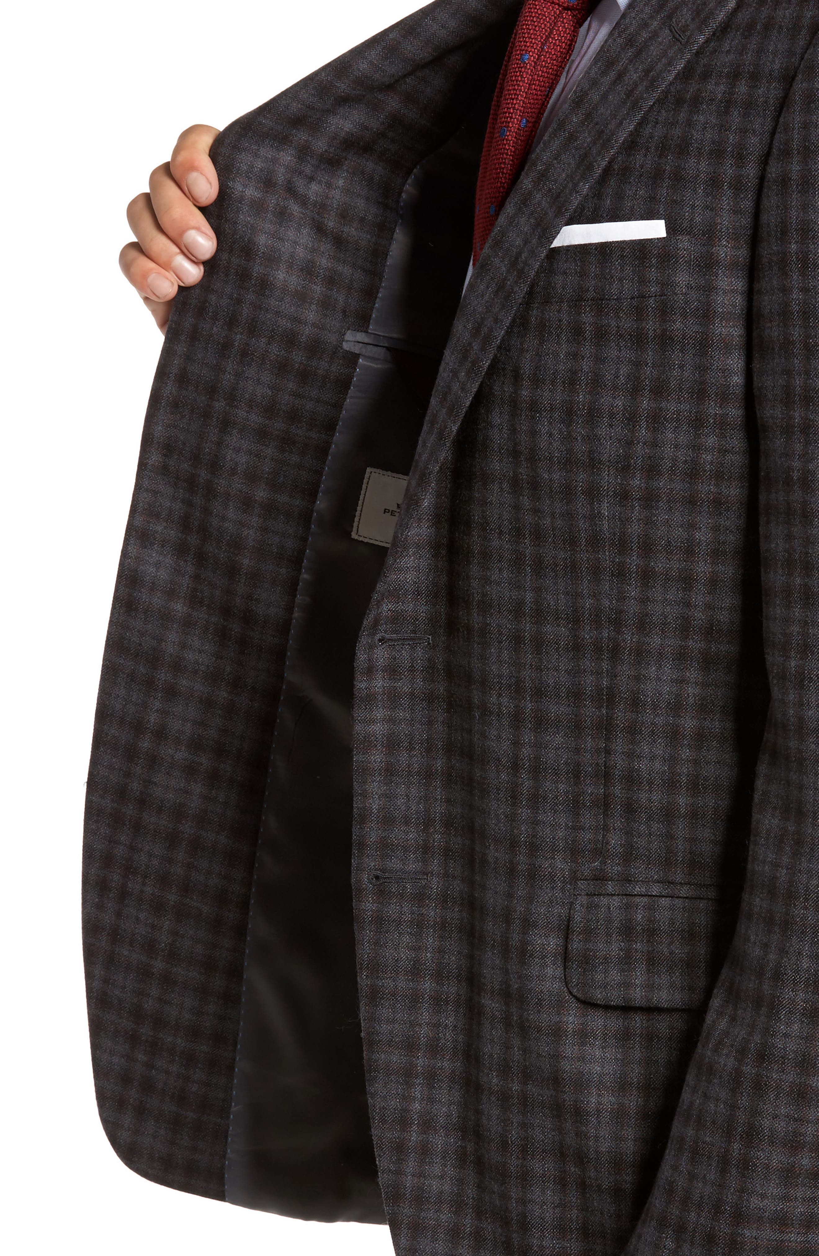 Alternate Image 4  - Peter Millar Classic Fit Plaid Wool Sport Coat