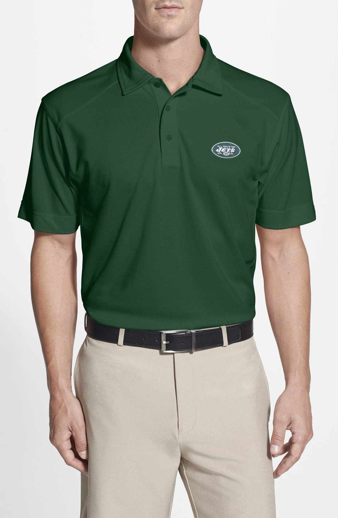 Cutter & Buck 'New York Jets - Genre' DryTec Moisture Wicking Polo (Big & Tall)