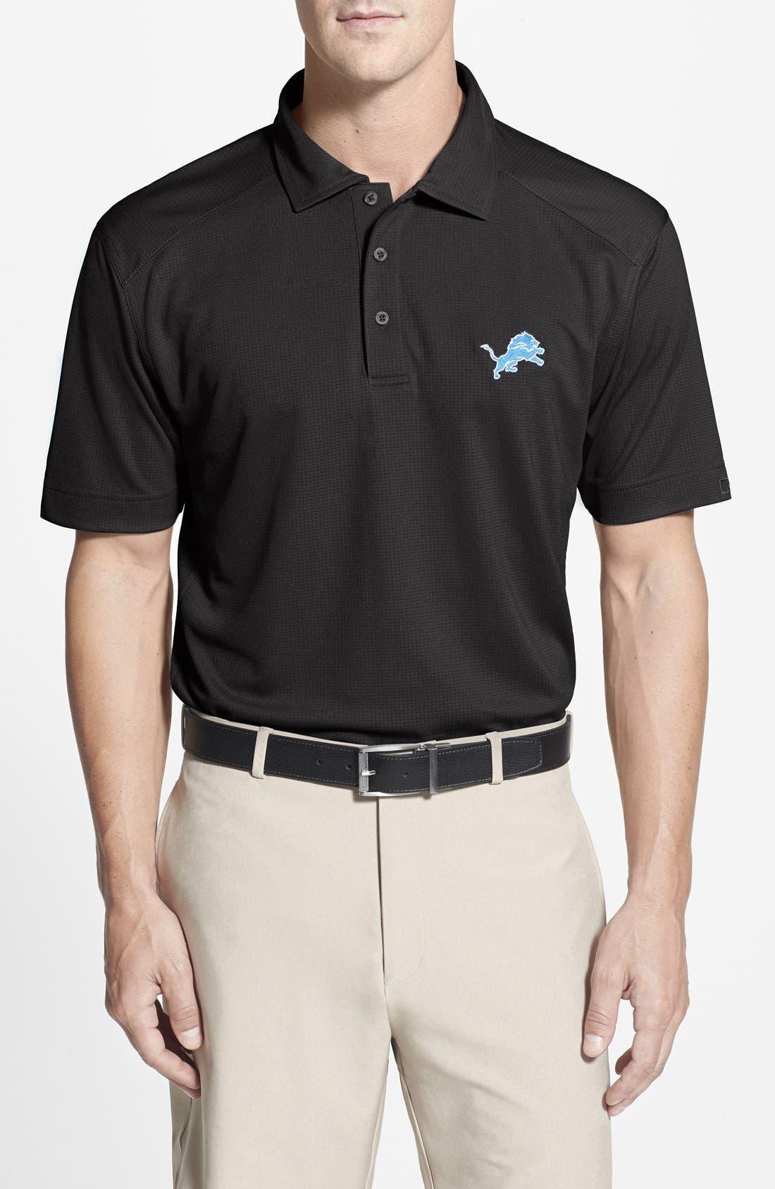 'Detroit Lions - Genre' DryTec Moisture Wicking Polo,                         Main,                         color, Black
