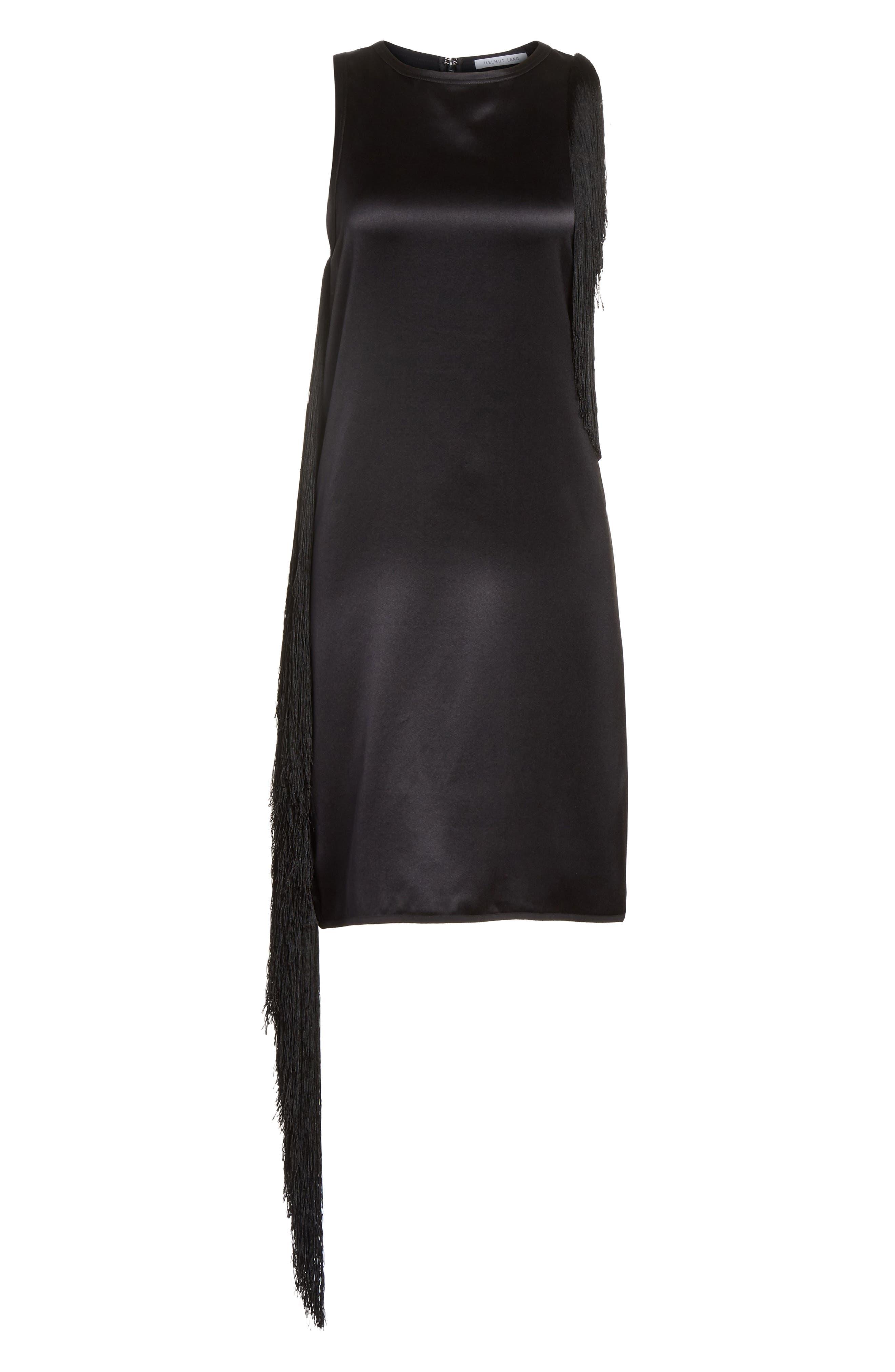 Alternate Image 6  - Helmut Lang Fringe Silk Minidress