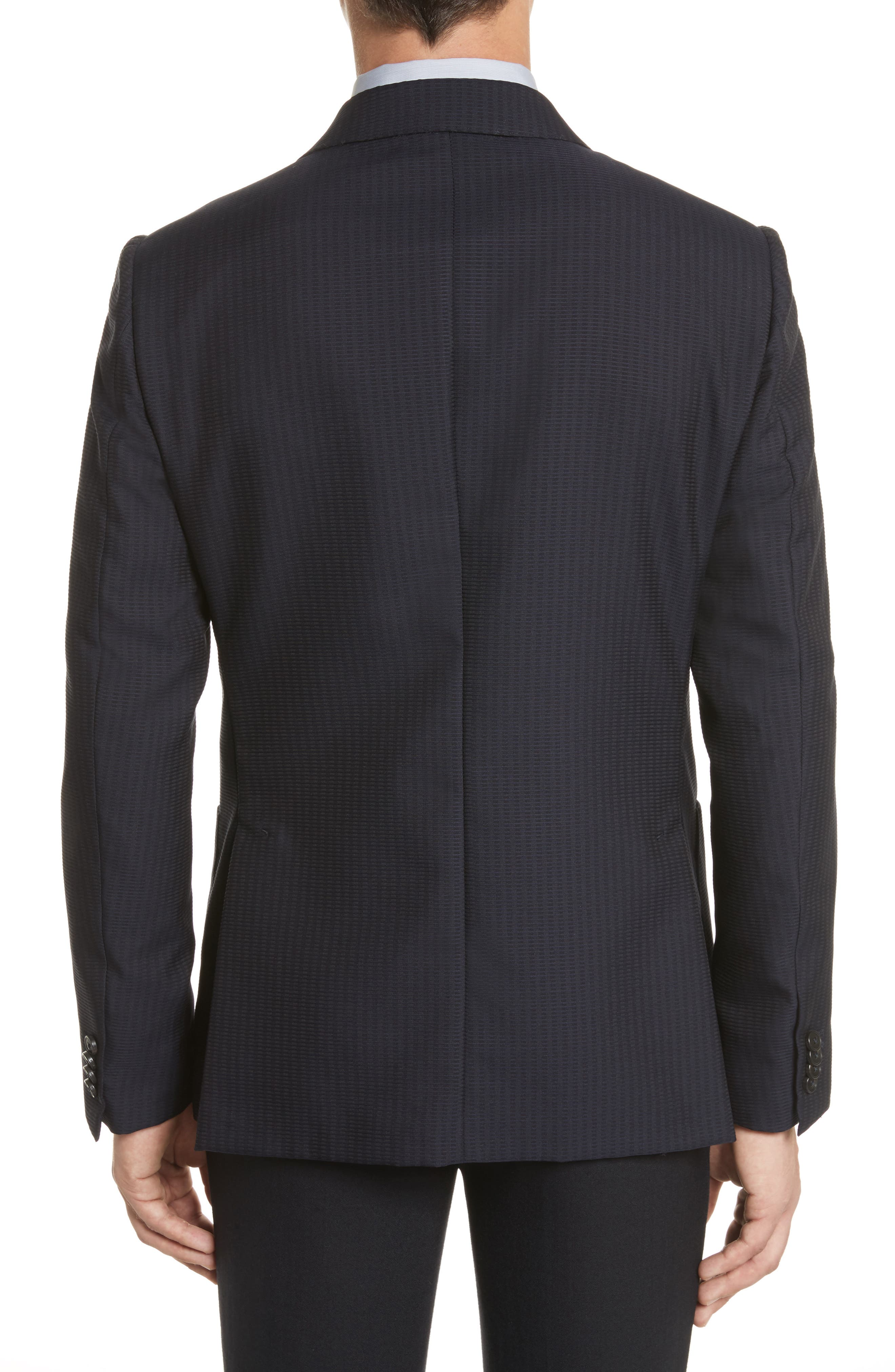 Alternate Image 2  - Z Zegna Classic Fit Stripe Cotton Blend Sport Coat