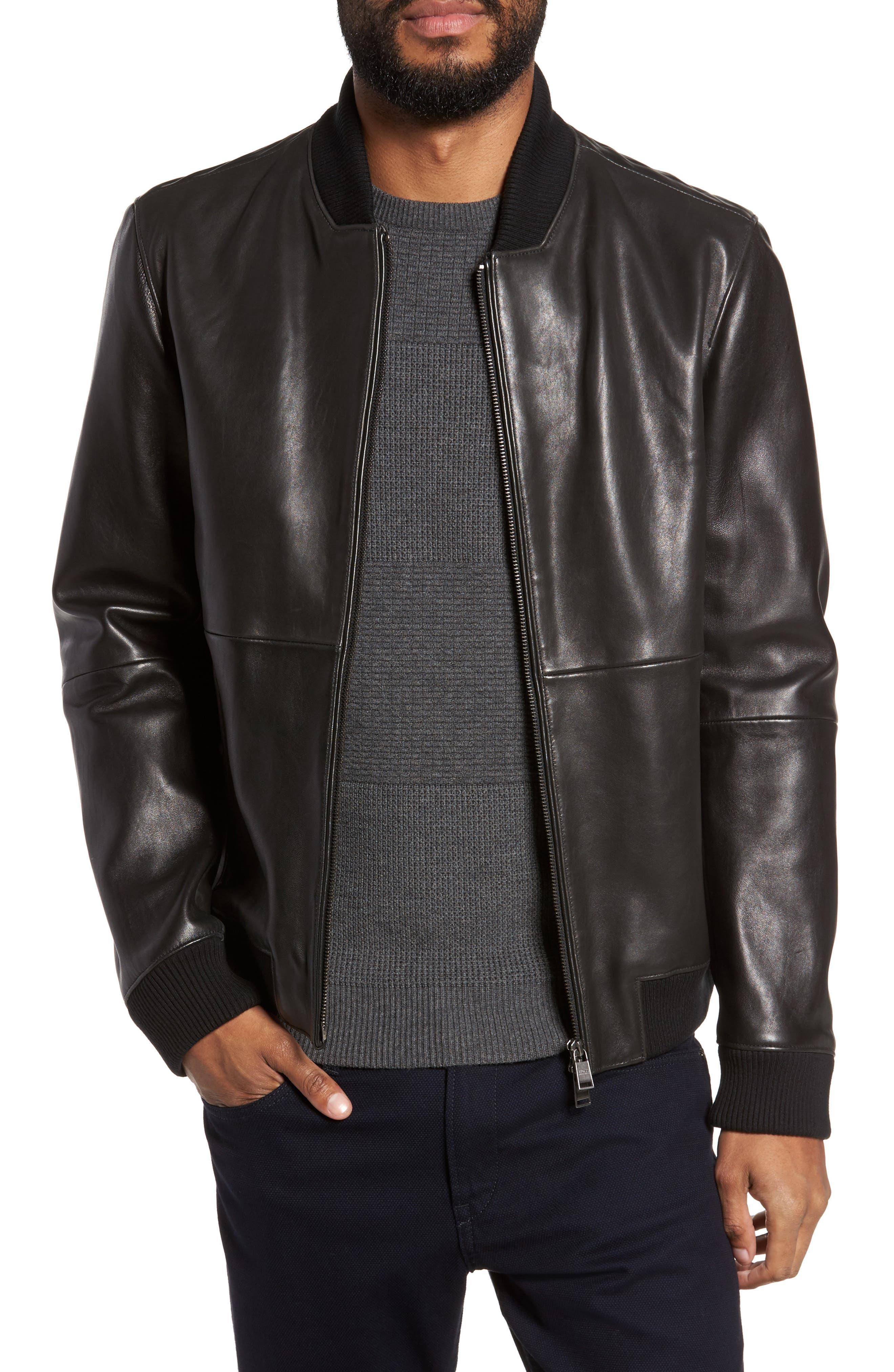 BOSS Alando Leather Jacket