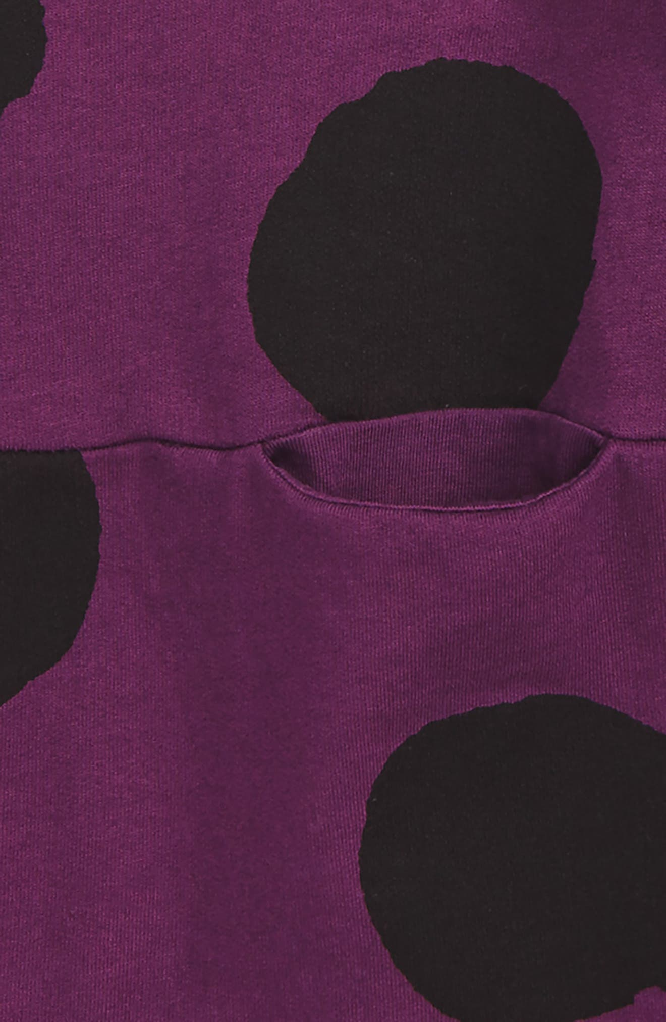 Dot Dress,                             Alternate thumbnail 2, color,                             Crimson/ Purple