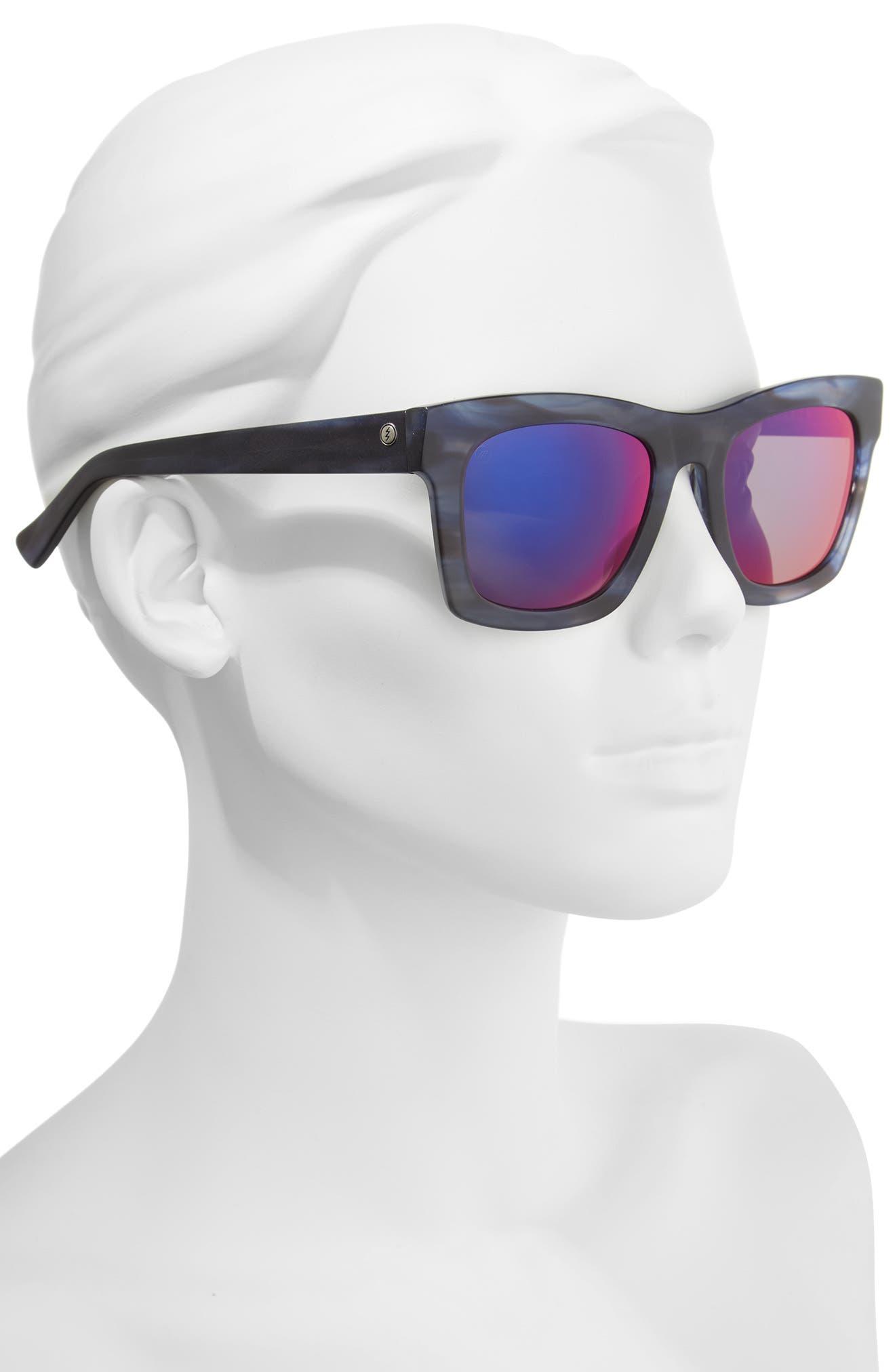 Crasher 53mm Mirrored Sunglasses,                             Alternate thumbnail 4, color,                             Skyline/ Plasma