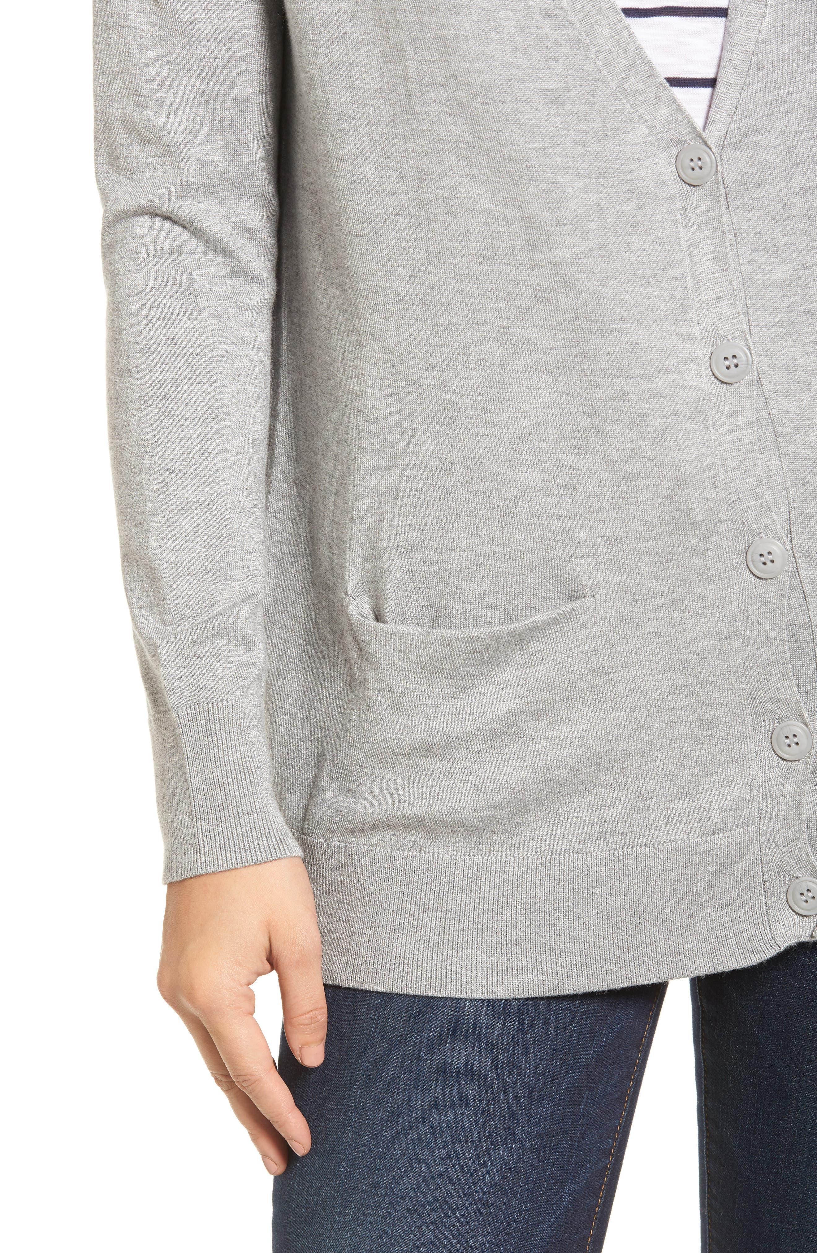 Alternate Image 4  - Halogen® Relaxed Pocket Cardigan
