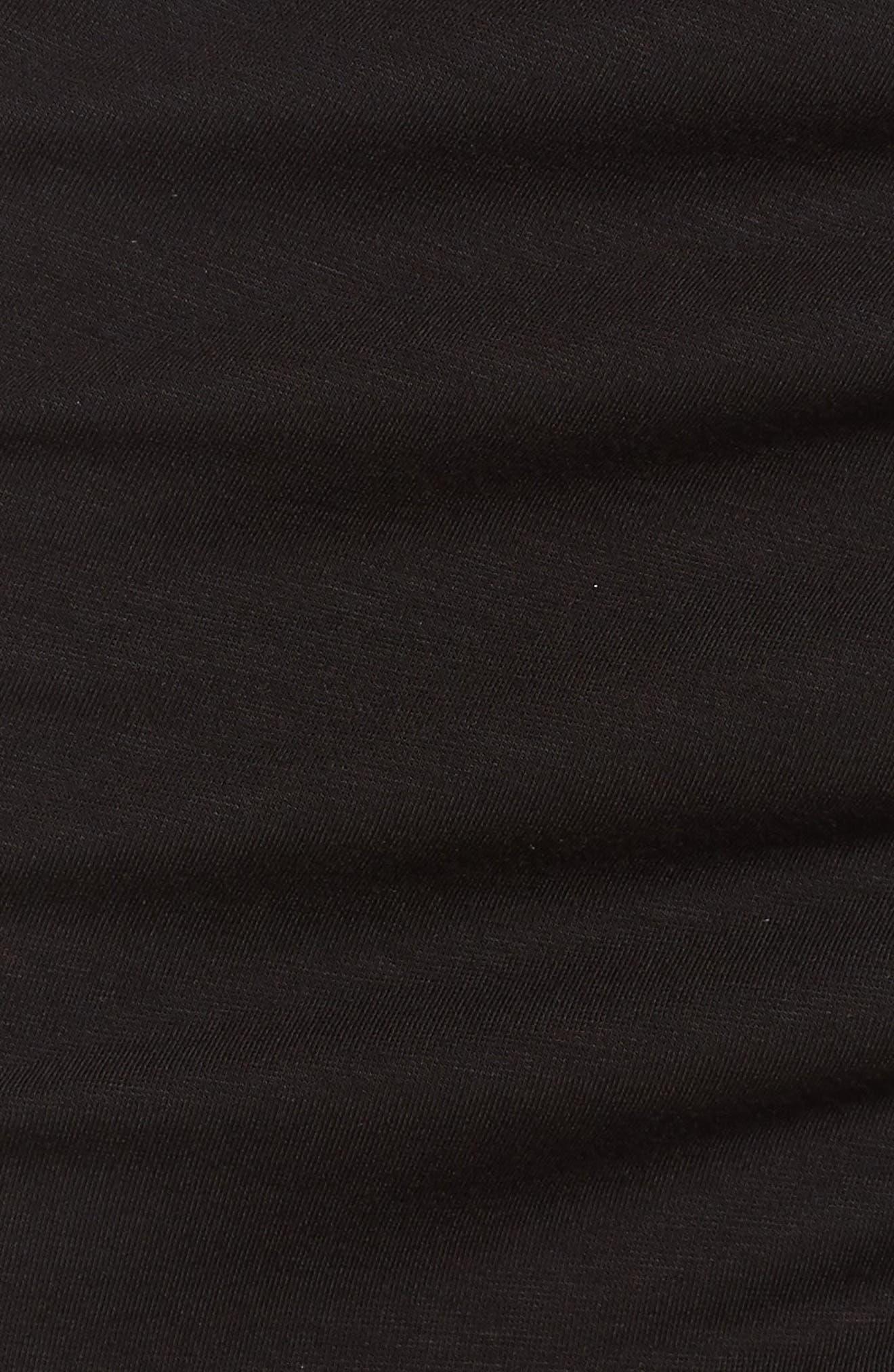 Side Ruffle Pencil Skirt,                             Alternate thumbnail 5, color,                             Black