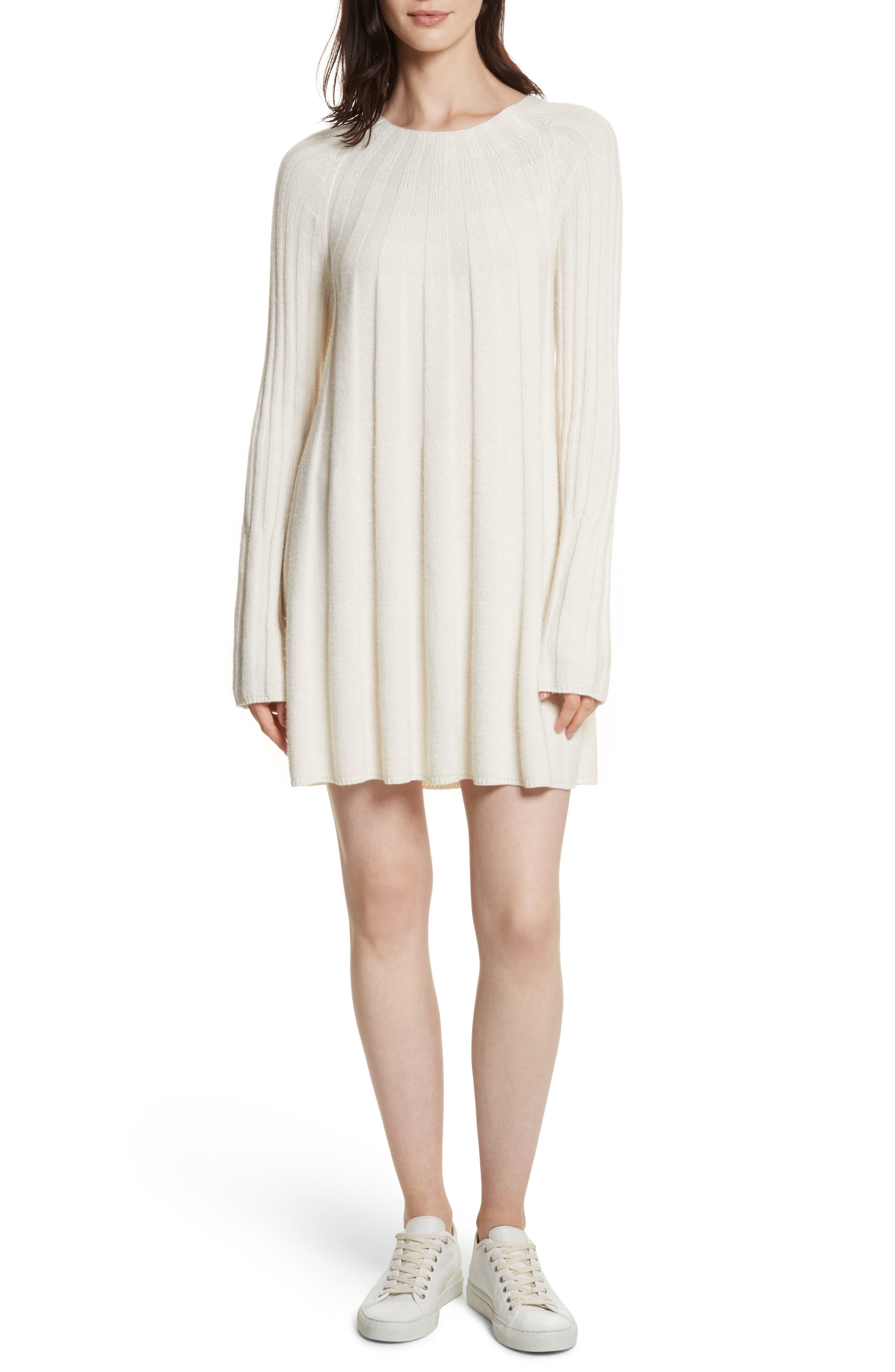 Gerri Knit Swing Dress,                             Main thumbnail 1, color,                             Ivory