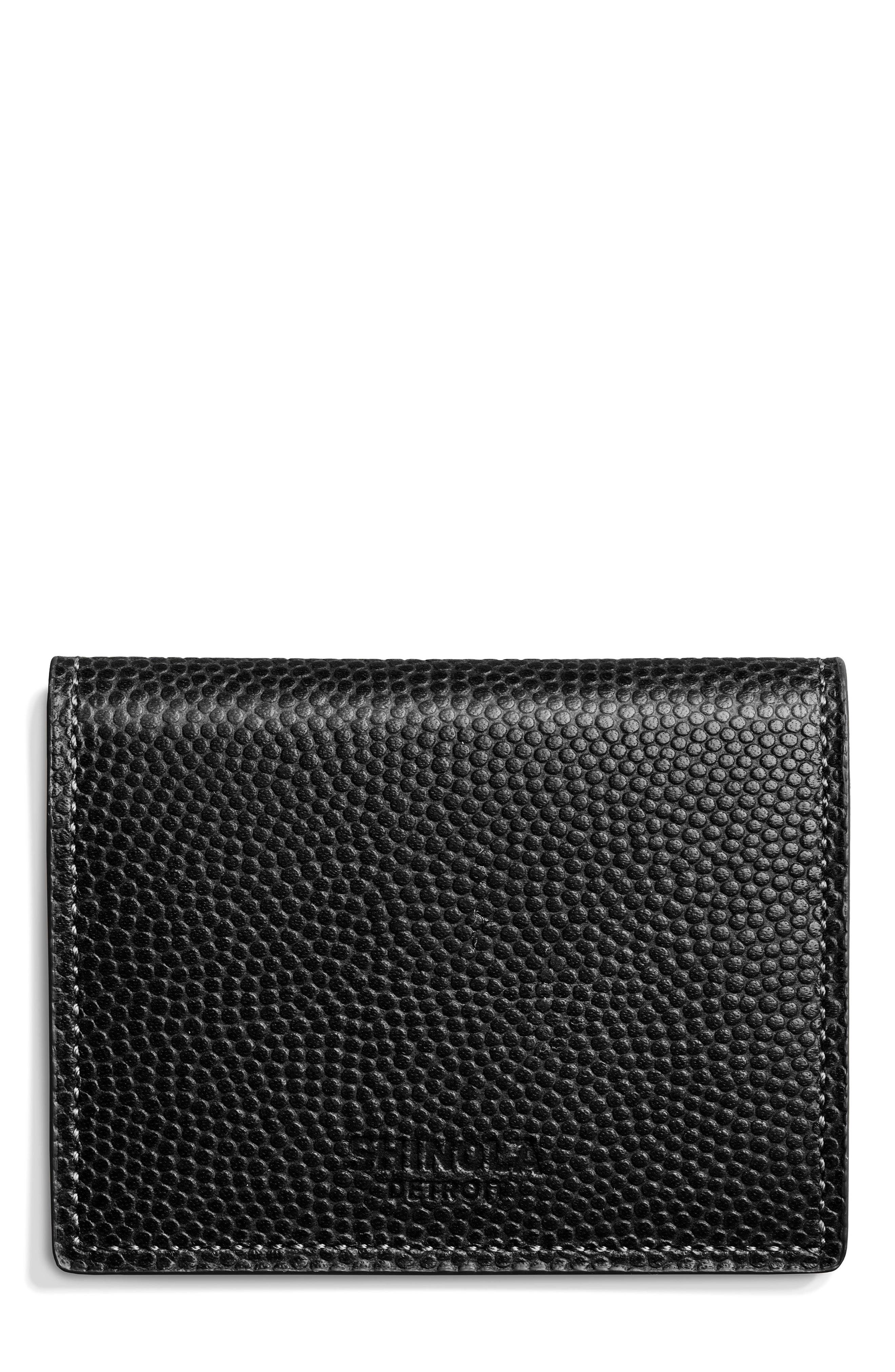 Leather Wallet,                         Main,                         color, Black