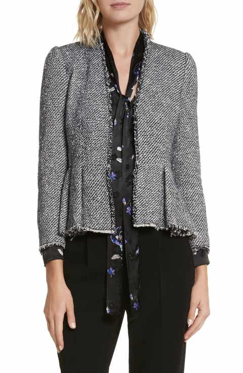 Rebecca Taylor Metallic Tweed Jacket