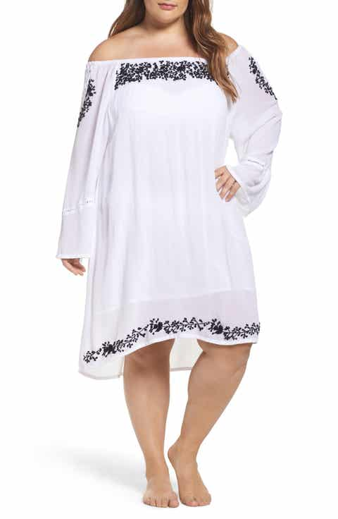 Muche et Muchette Cleopatra Off the Shoulder Cover-Up Dress (Plus Size)