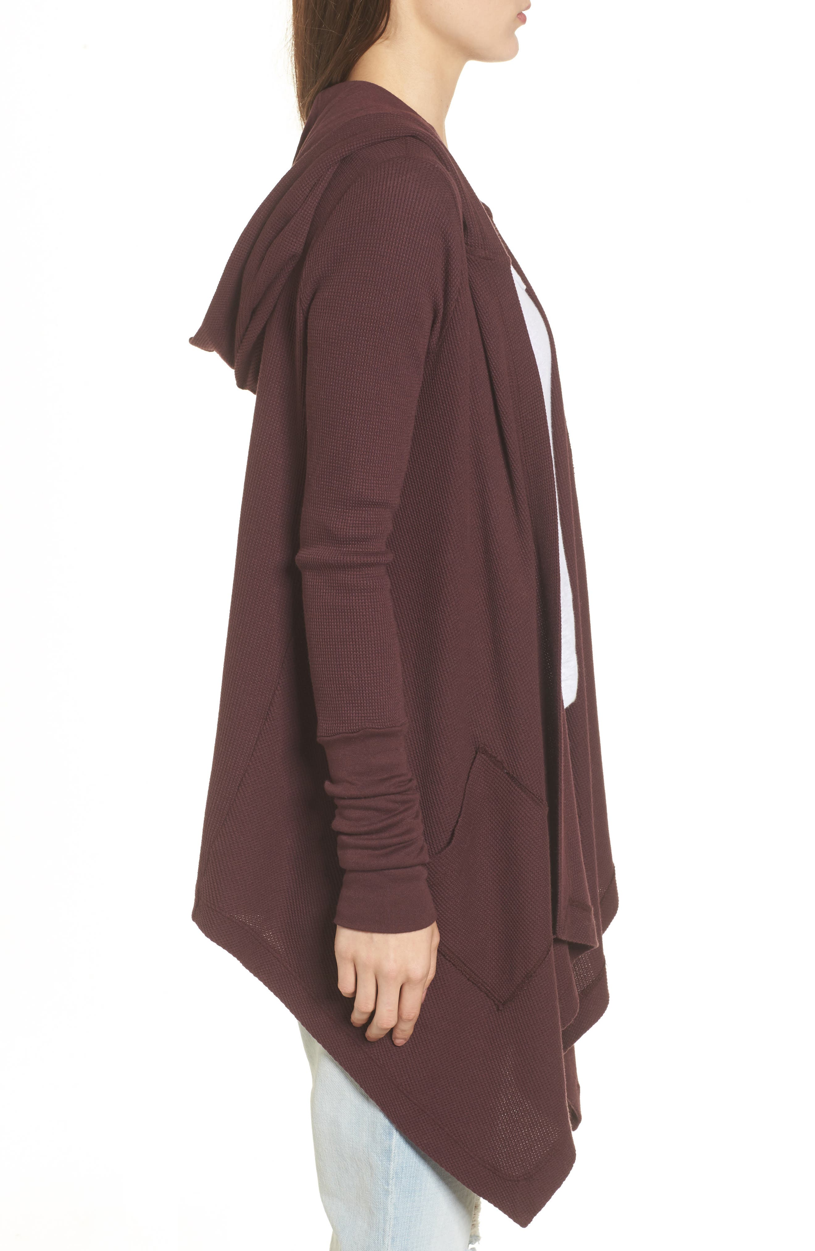 Alternate Image 3  - Splendid Draped Thermal Hoodie