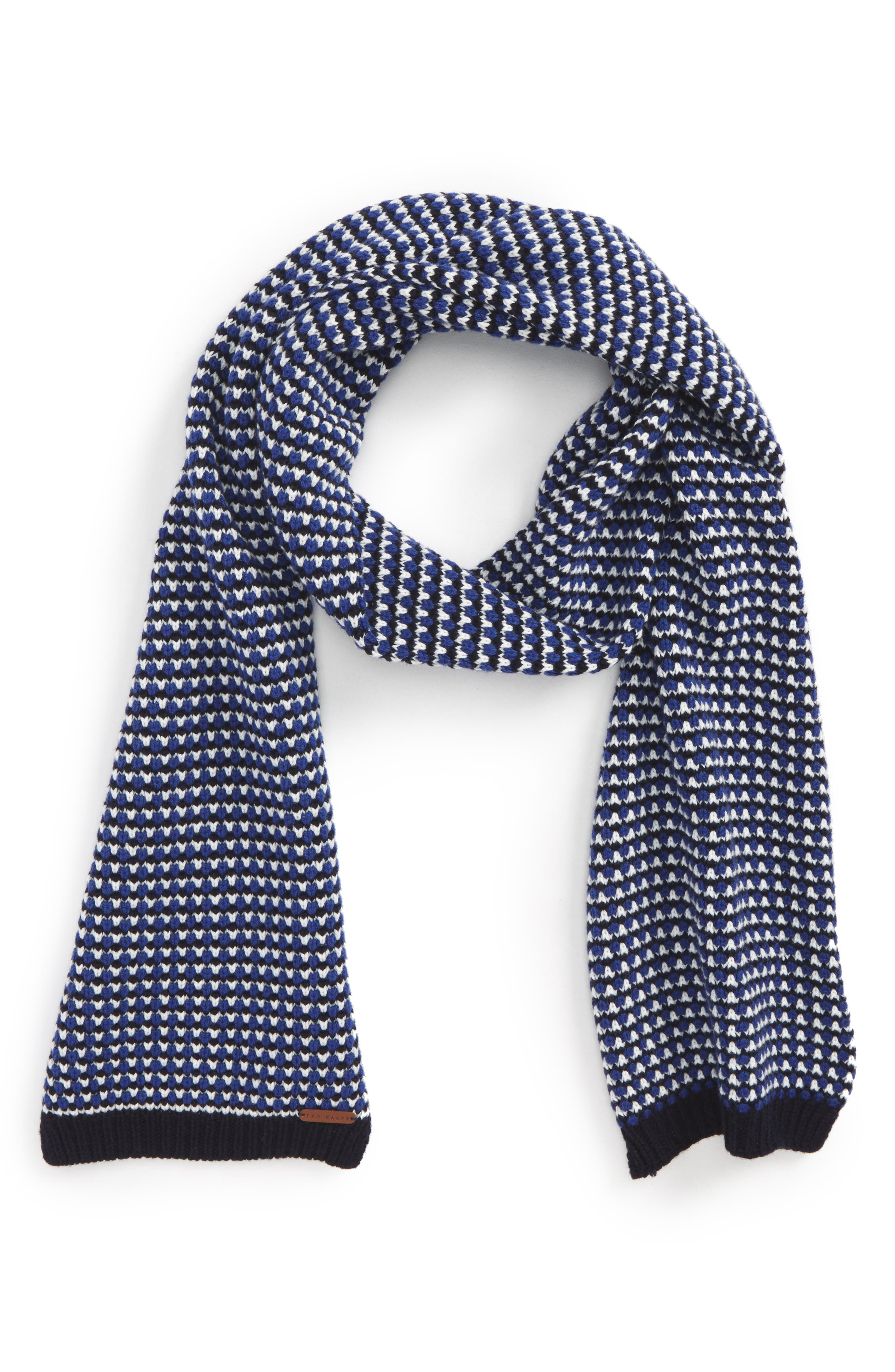 Balsamm Wool Blend Scarf,                         Main,                         color, Blue