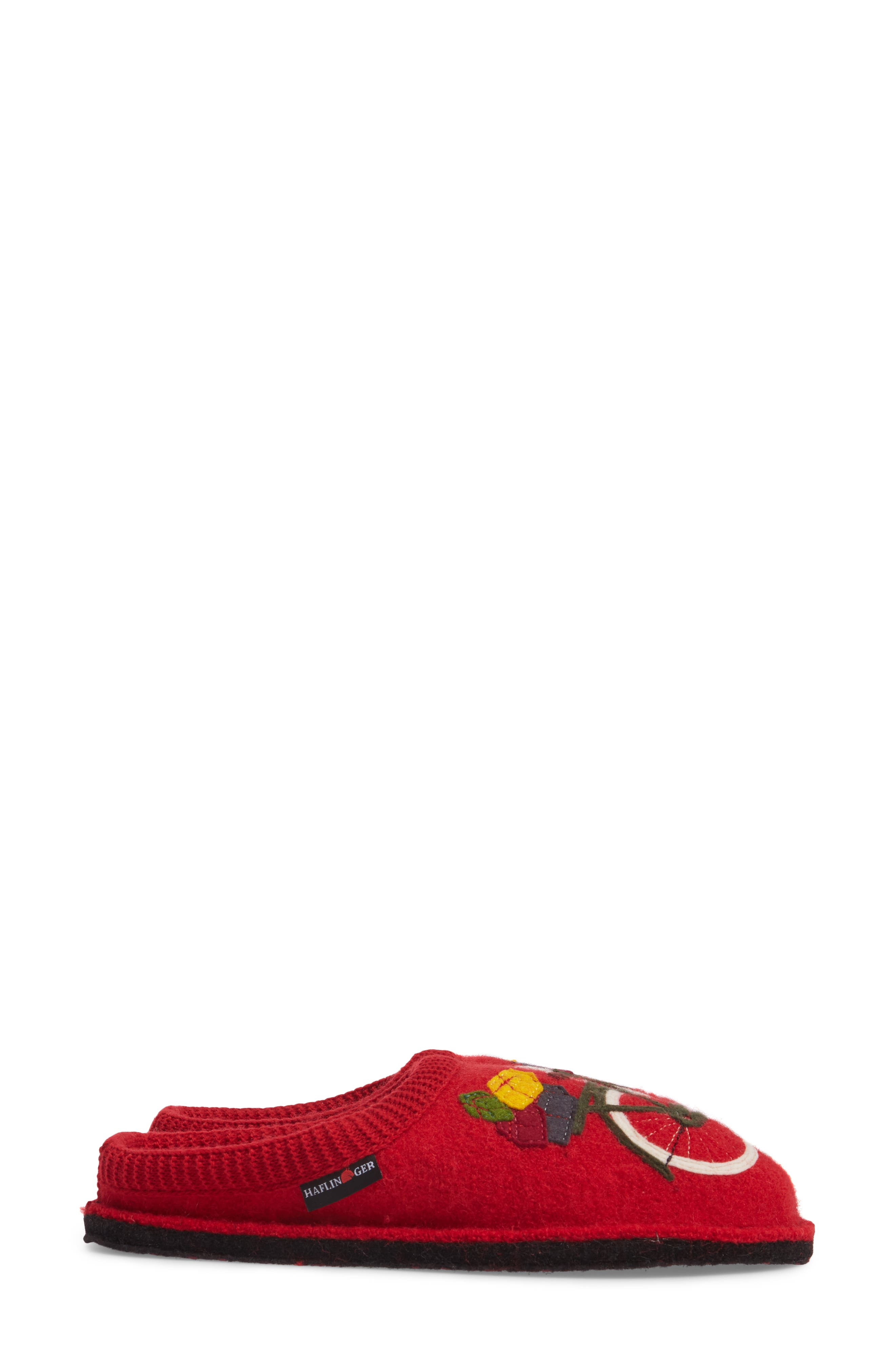 Bicycle Slipper,                             Alternate thumbnail 4, color,                             Bicycle Red Wool