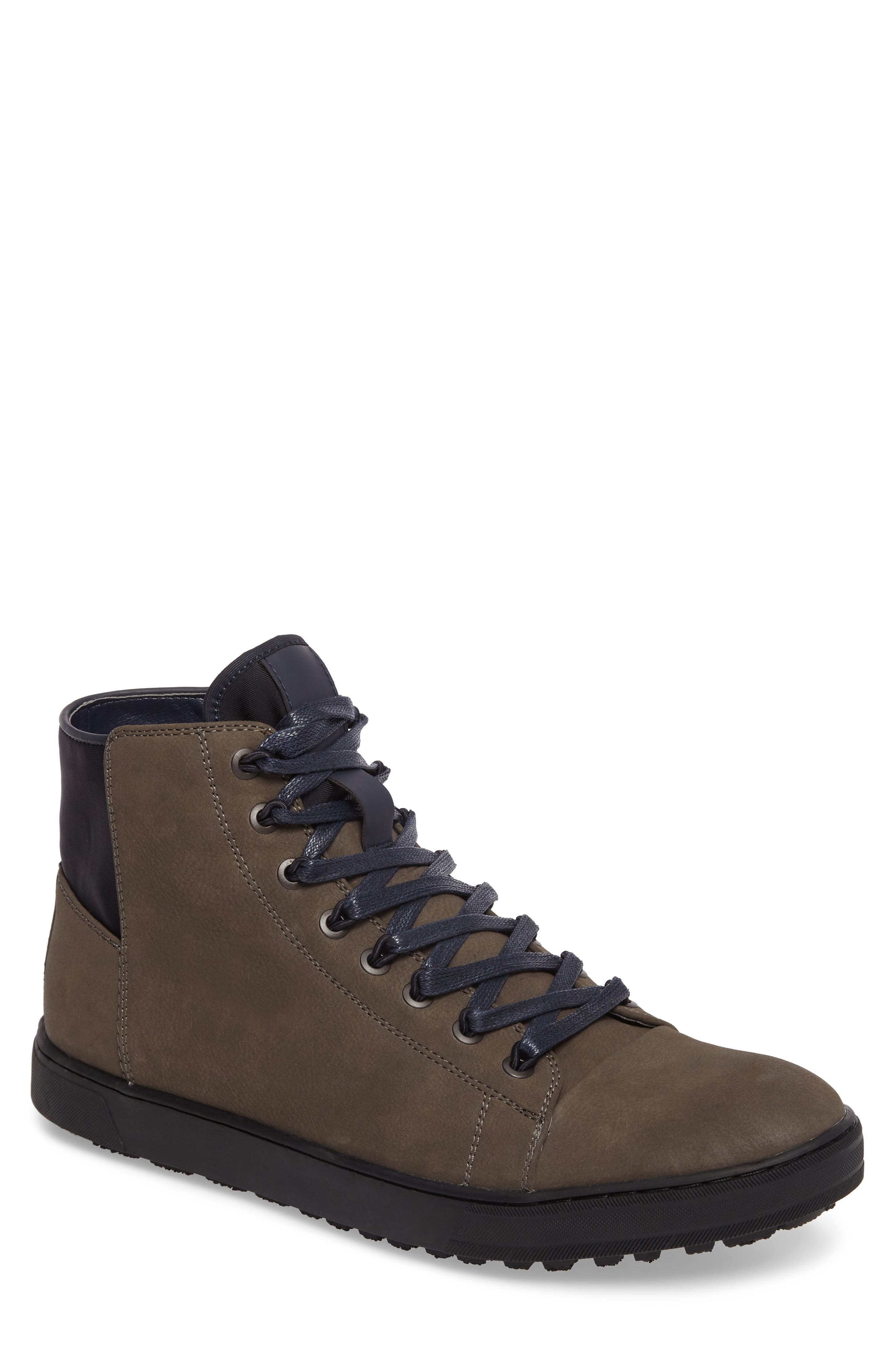 Kenneth Cole Reaction High-Top Sneaker,                         Main,                         color, Dark Taupe
