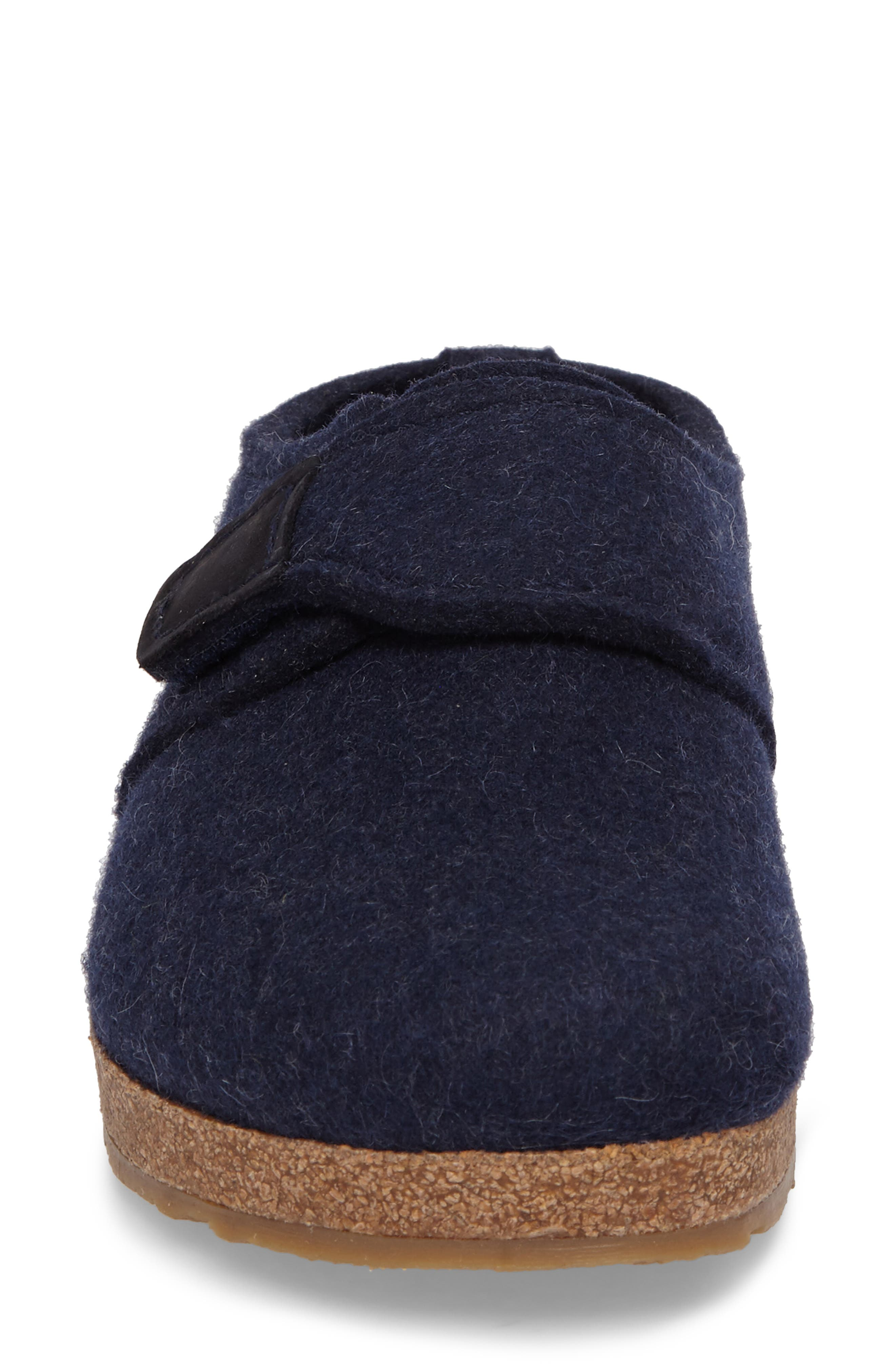 Grizzly Journey Clog Slipper,                             Alternate thumbnail 4, color,                             Captains Blue Wool