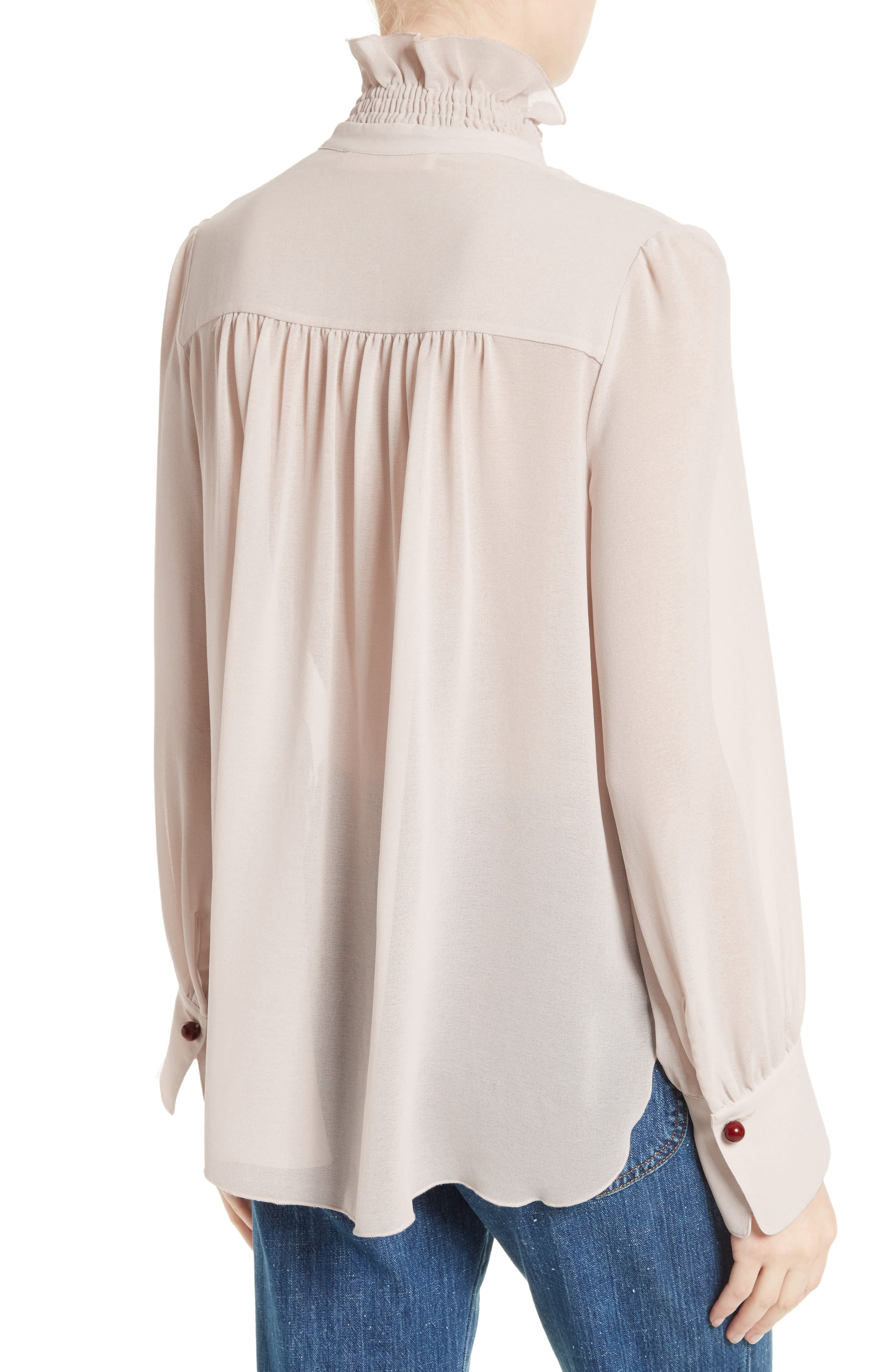 Alternate Image 2  - See by Chloé Ruffle Front Blouse