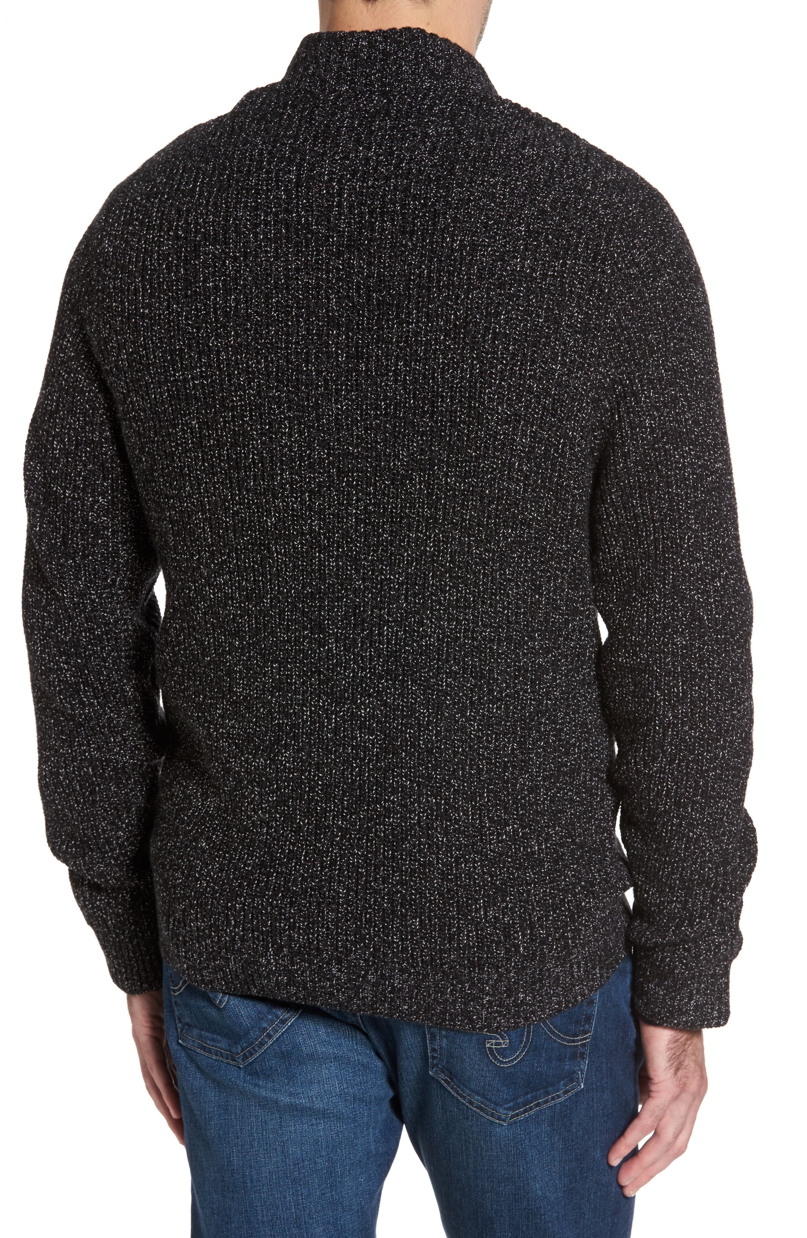 Alternate Image 2  - Nordstrom Men's Shop Zip Front Cardigan