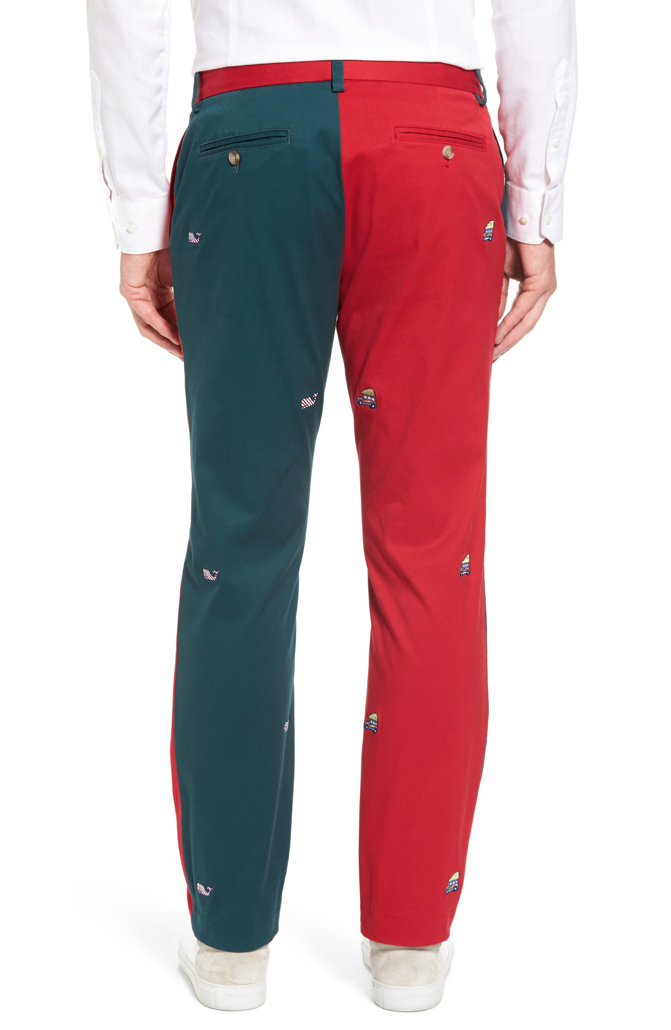 Breaker Embroidered Pieced Pants,                             Alternate thumbnail 2, color,                             Multi
