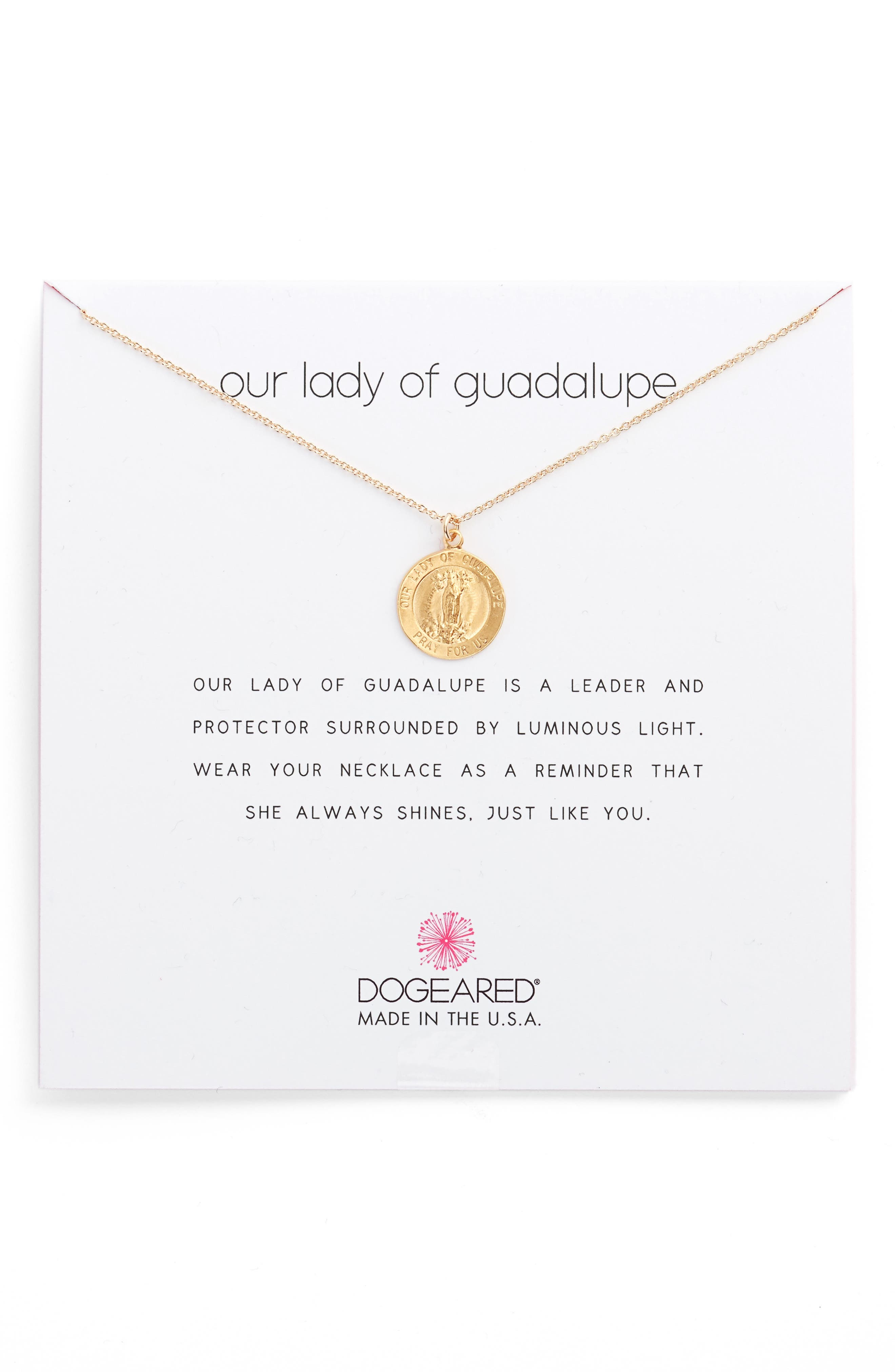 Dogeared Our Lady of Guadalupe Pendant Necklace
