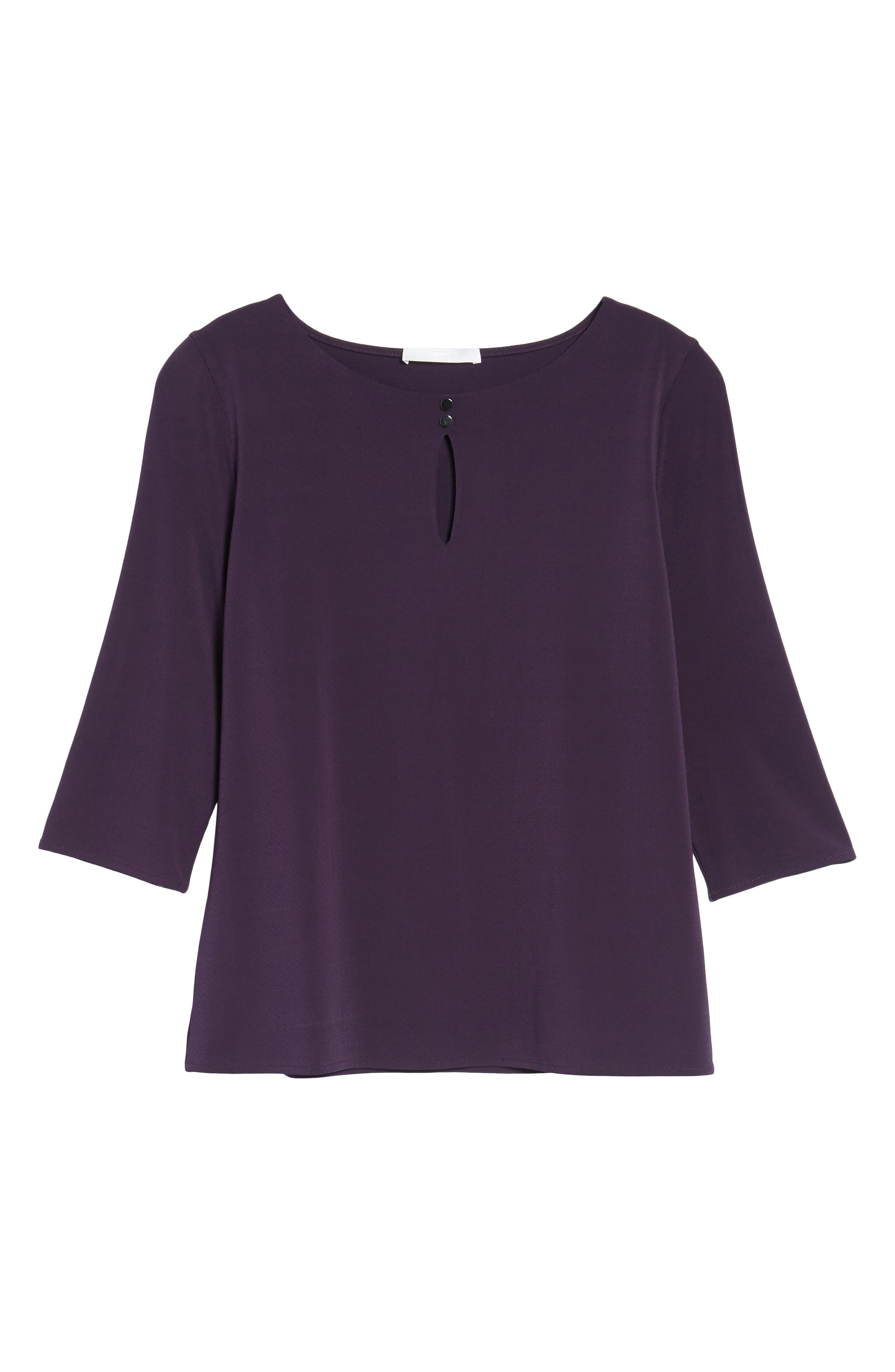 Alternate Image 5  - BOSS Epina Keyhole Jersey Top (Nordstrom Exclusive)