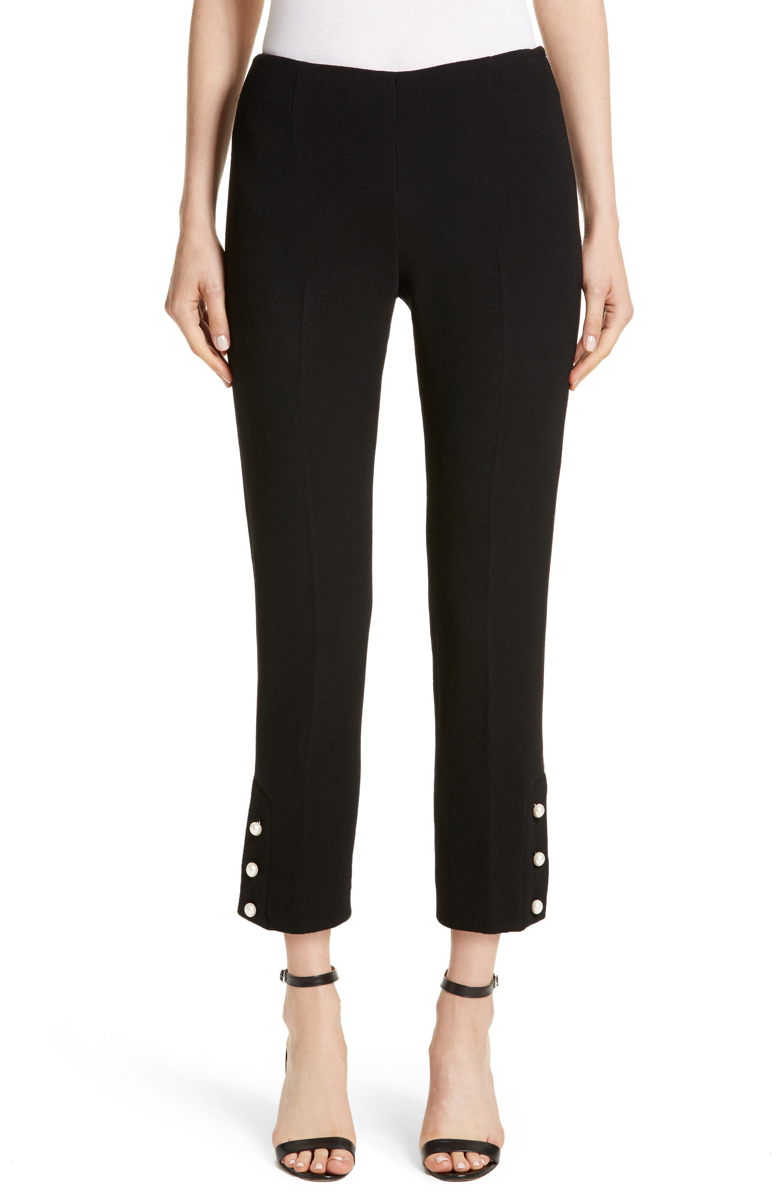 Lela Rose Pearly Button Pants