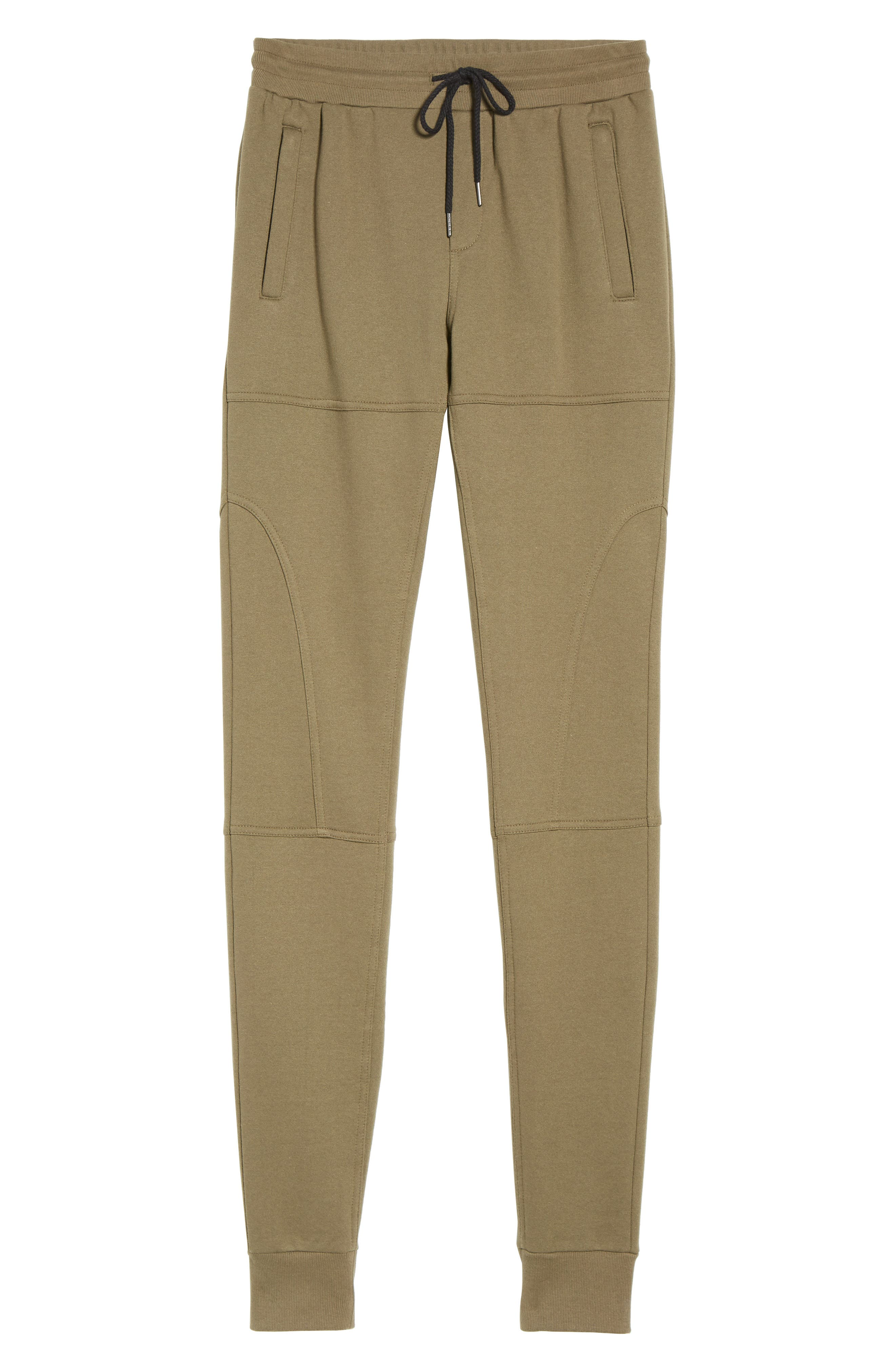 French Terry Sweatpants,                             Alternate thumbnail 6, color,                             Army