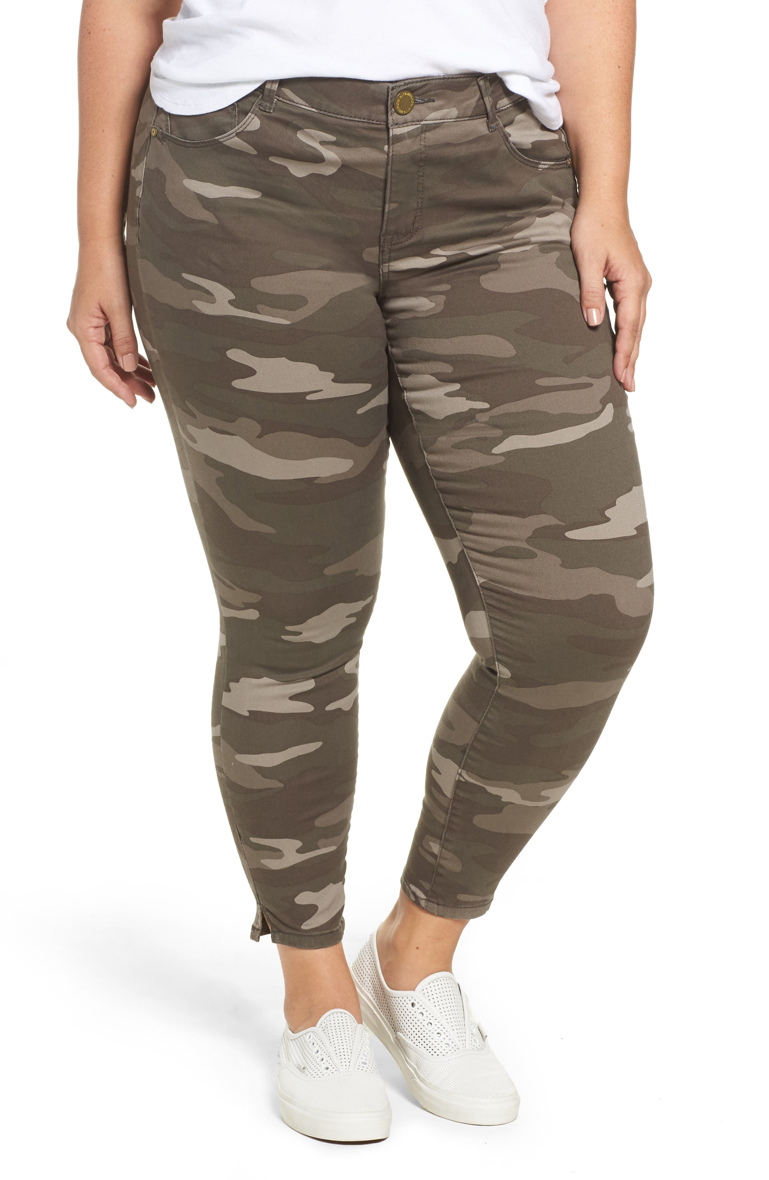 Main Image - Wit & Wisdom Ab-solution Camo Skinny Pants (Plus Size) (Nordstrom Exclusive)