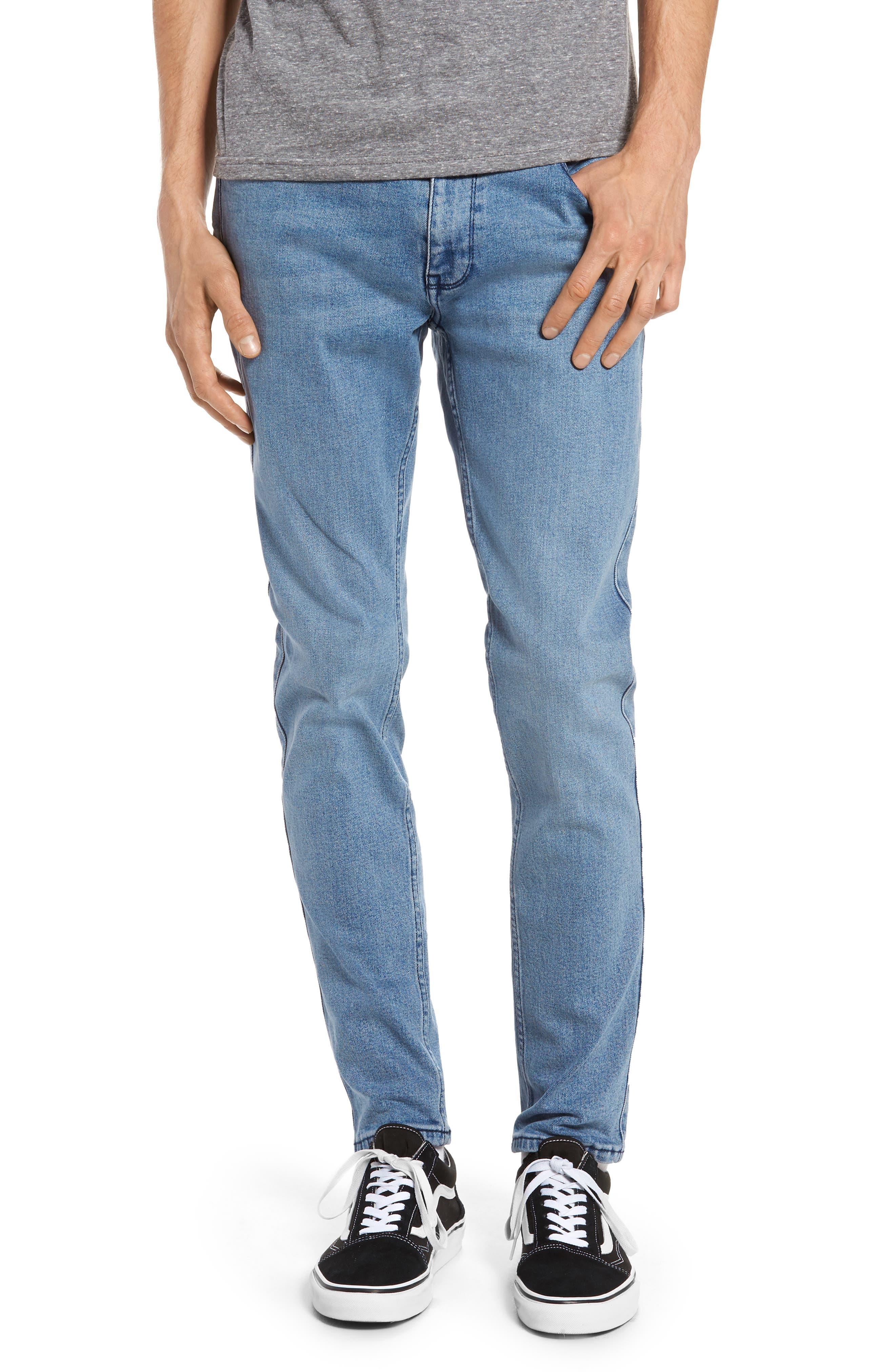 Clark Slim Straight Leg Jeans,                         Main,                         color, Worn Light Retro