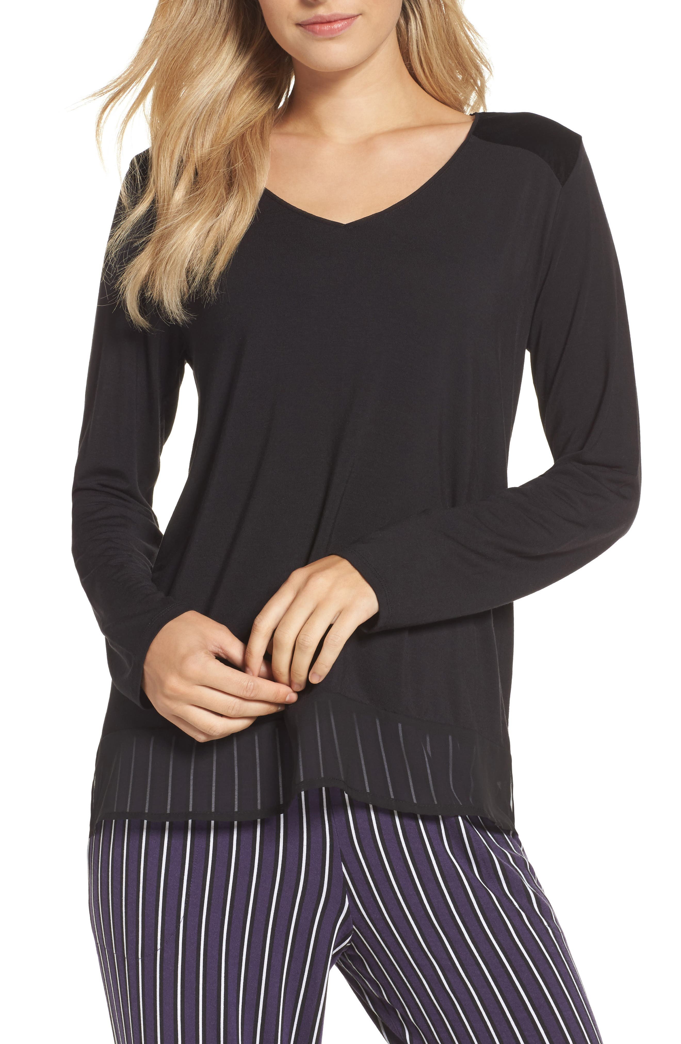 Alternate Image 1 Selected - DKNY Jersey Top