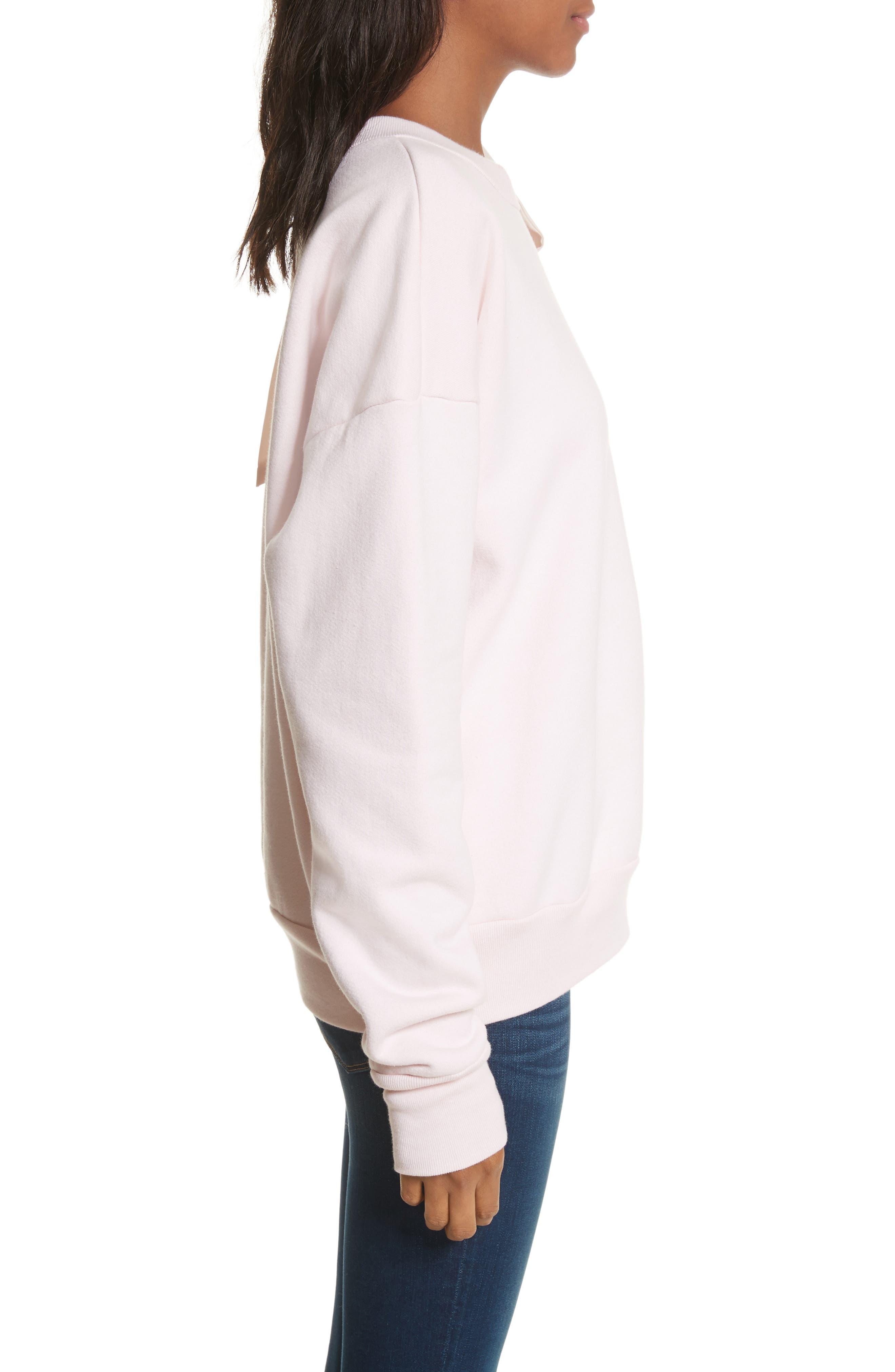 Bow Sweatshirt,                             Alternate thumbnail 4, color,                             Light Pink Exclusive