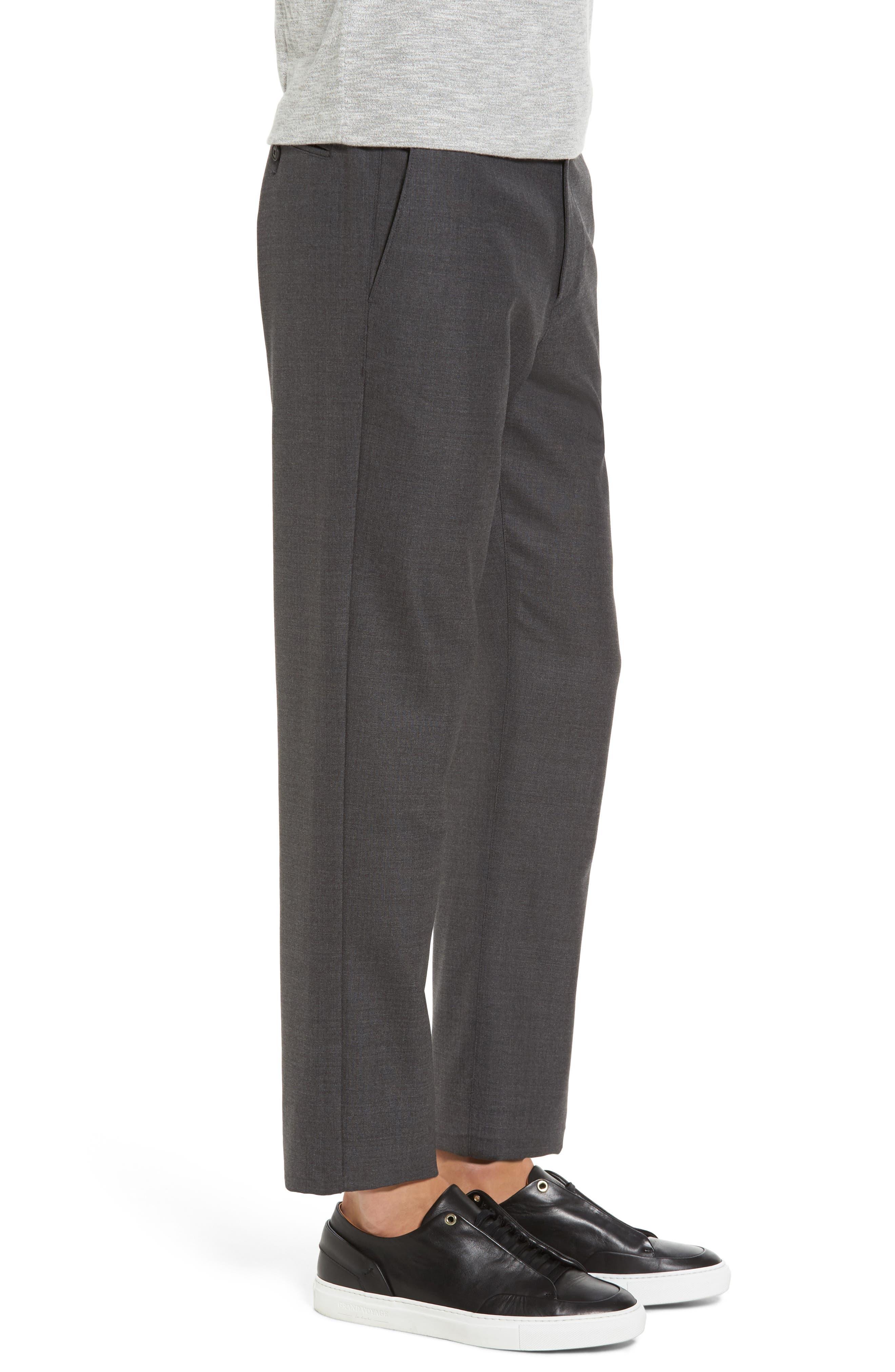 Zaine Gearheart Slim Straight Pants,                             Alternate thumbnail 3, color,                             Medium Charcoal