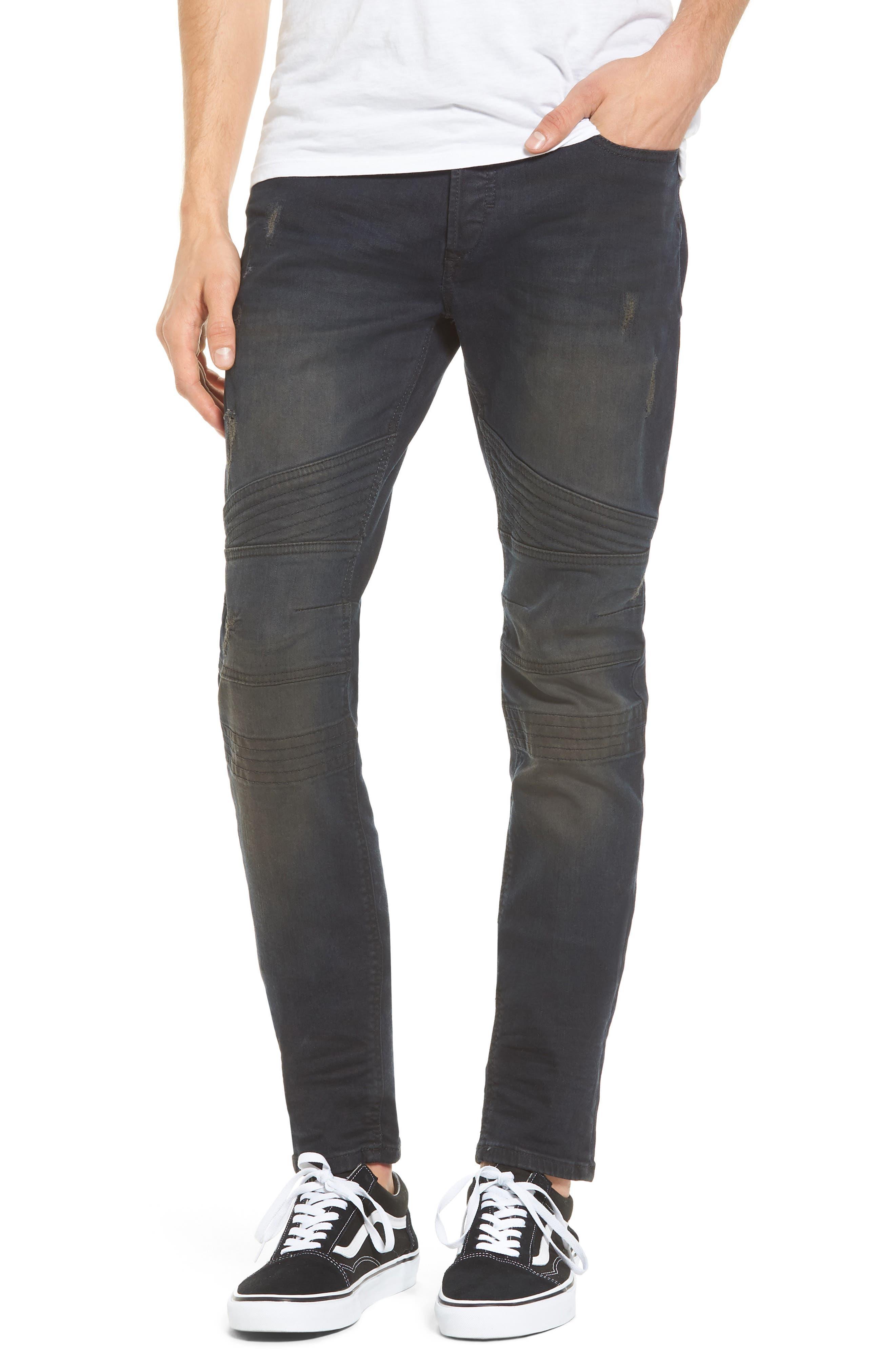 Fourk Skinny Fit Jeans,                             Main thumbnail 1, color,                             Denim