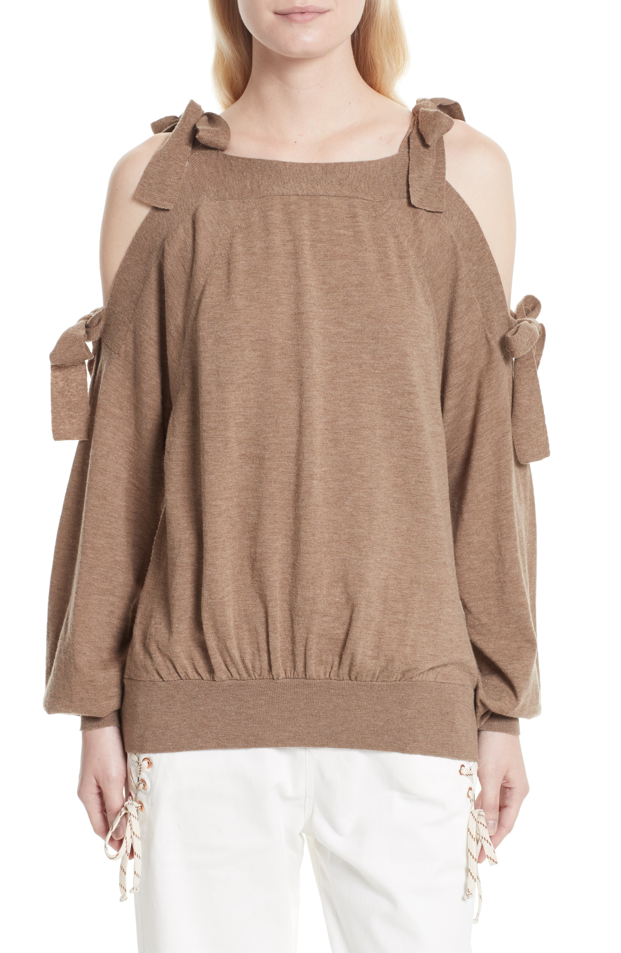 Main Image - See by Chloé Cold Shoulder Sweater