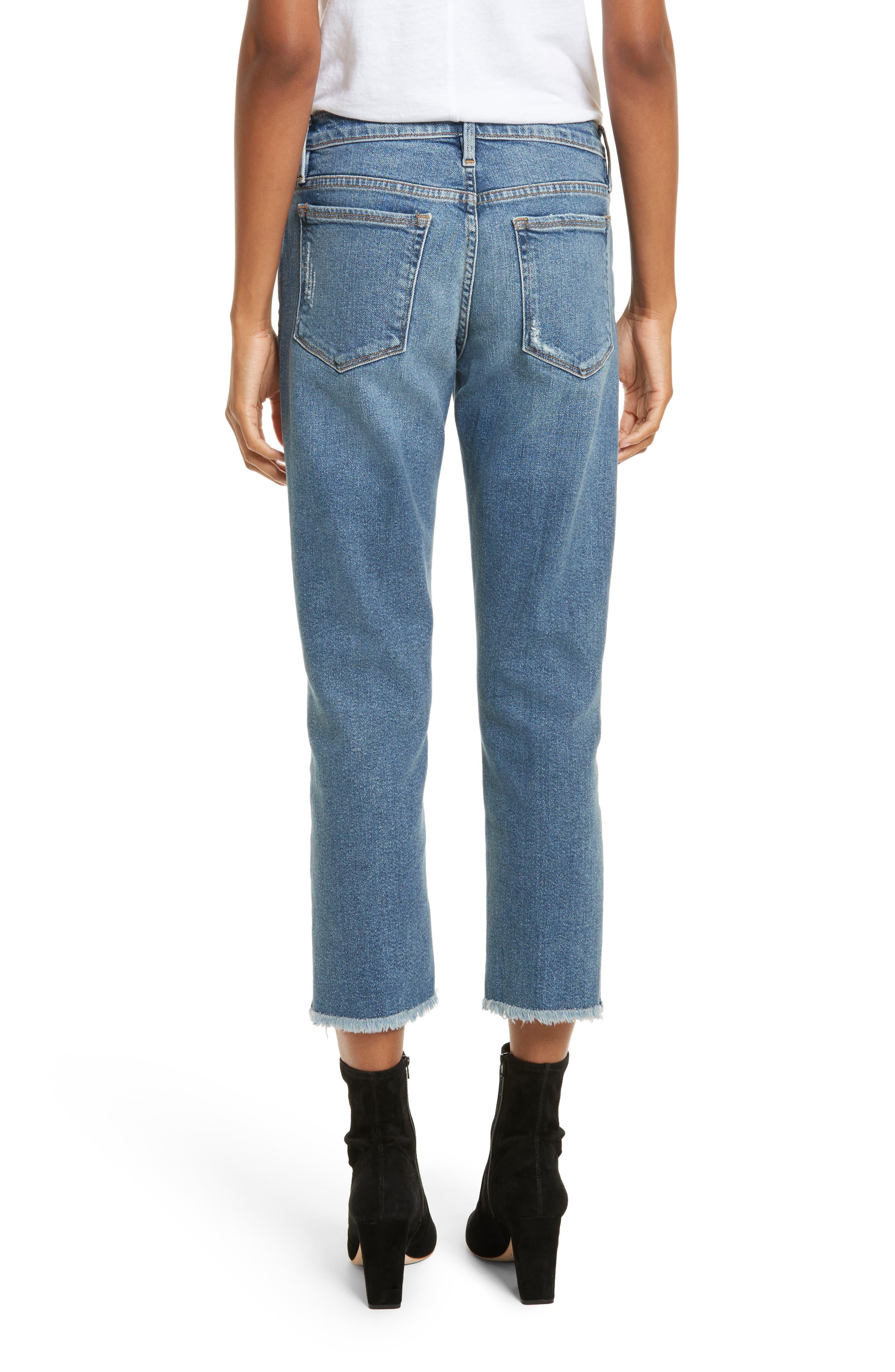 Nouveau Le Straight Raw Hem Jeans,                             Alternate thumbnail 2, color,                             Sackett